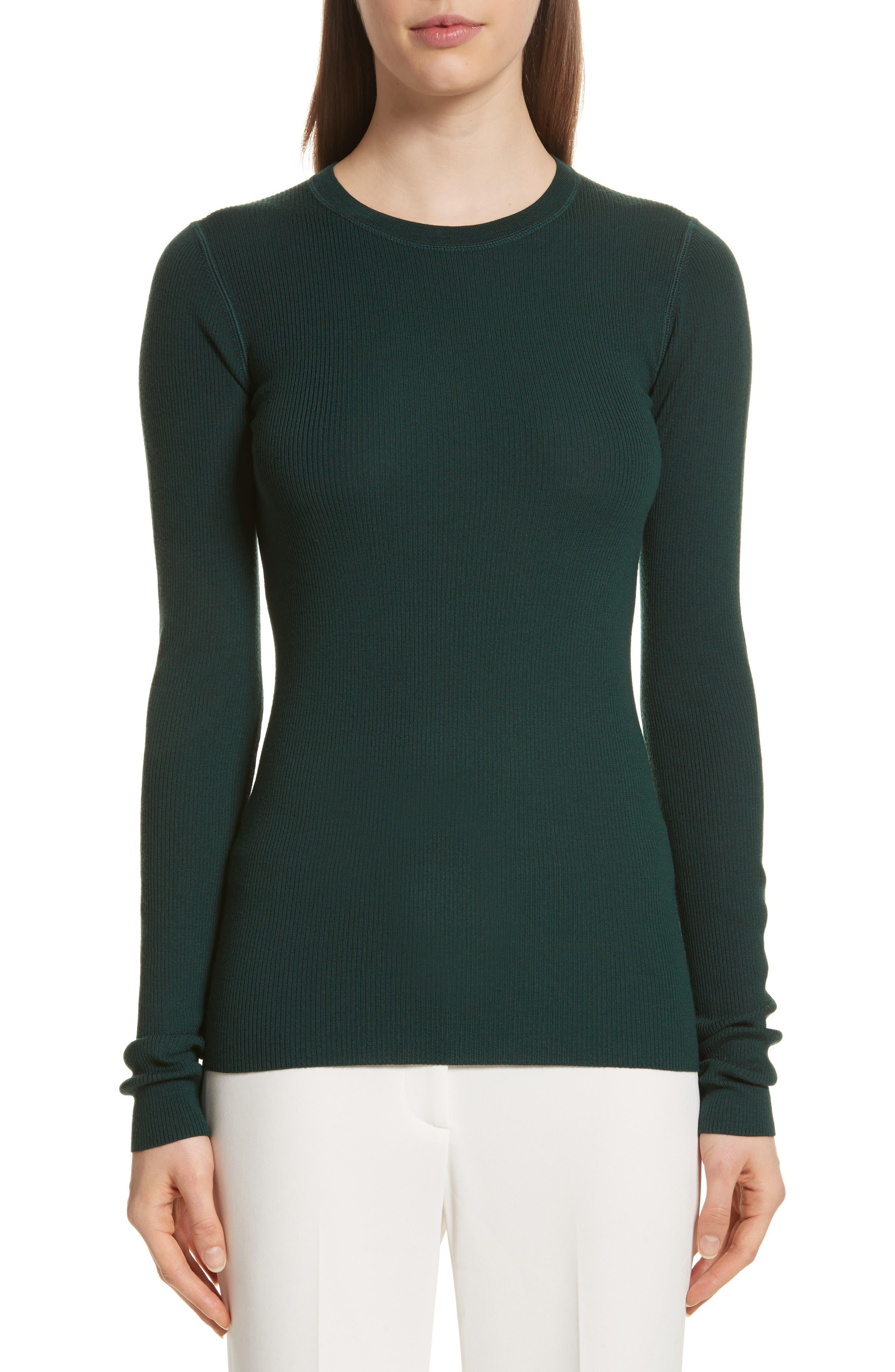 Alternate Image 1 Selected - Theory Mirzi Ribbed Sweater