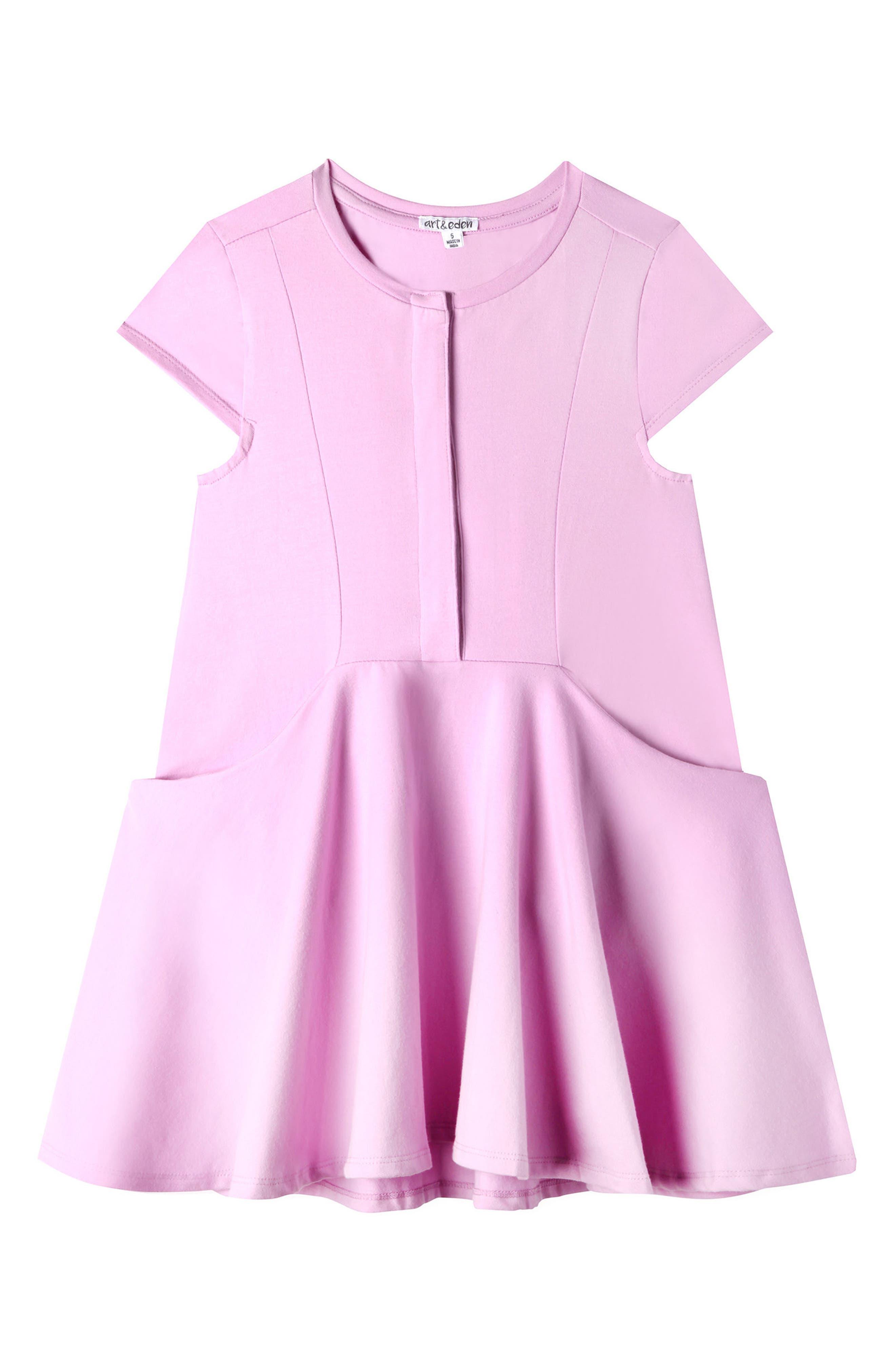 Elena Dress,                             Main thumbnail 1, color,                             Lilac