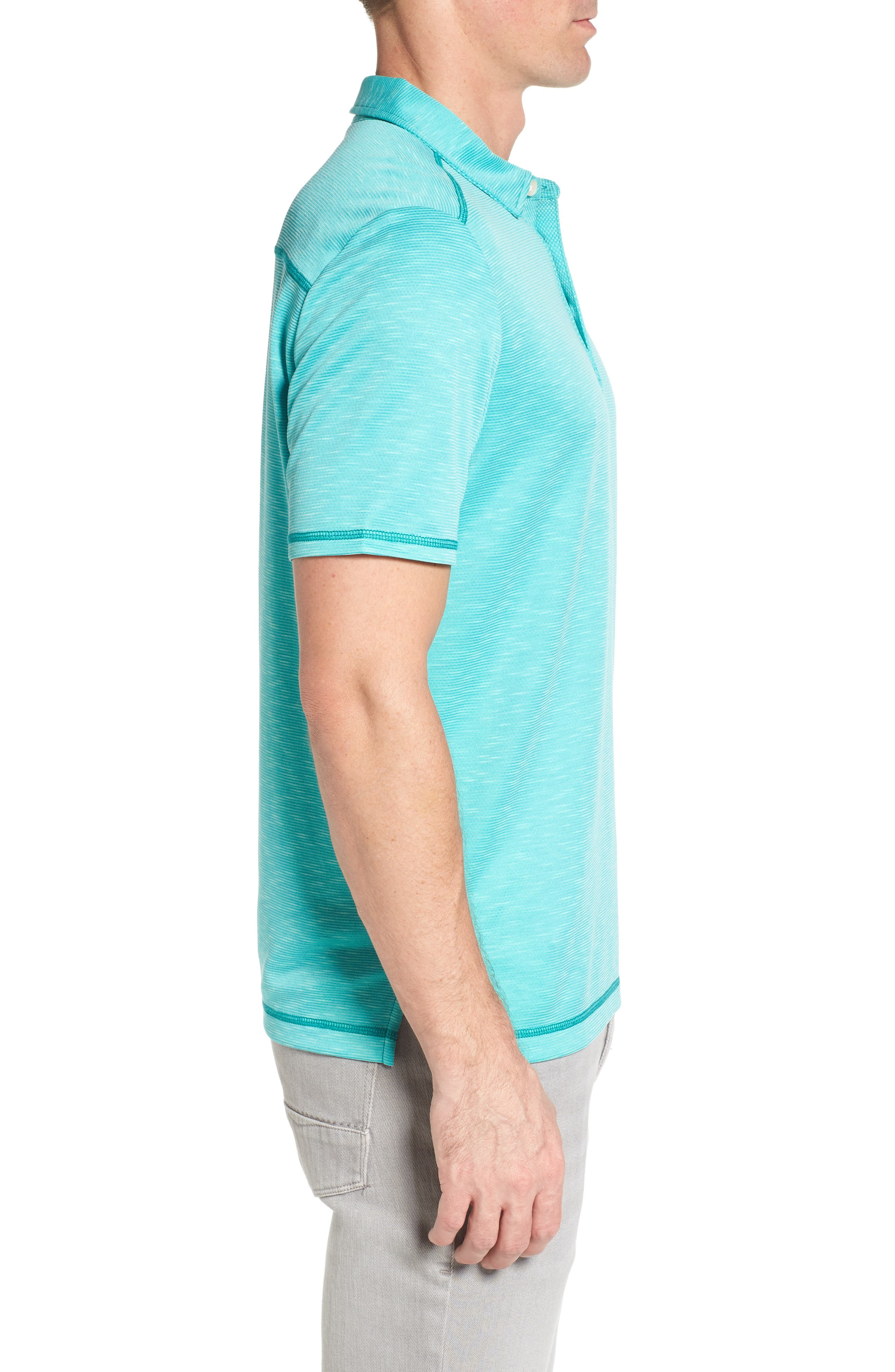 New Double Tempo Spectator Jersey Polo,                             Alternate thumbnail 3, color,                             Mint Mojito
