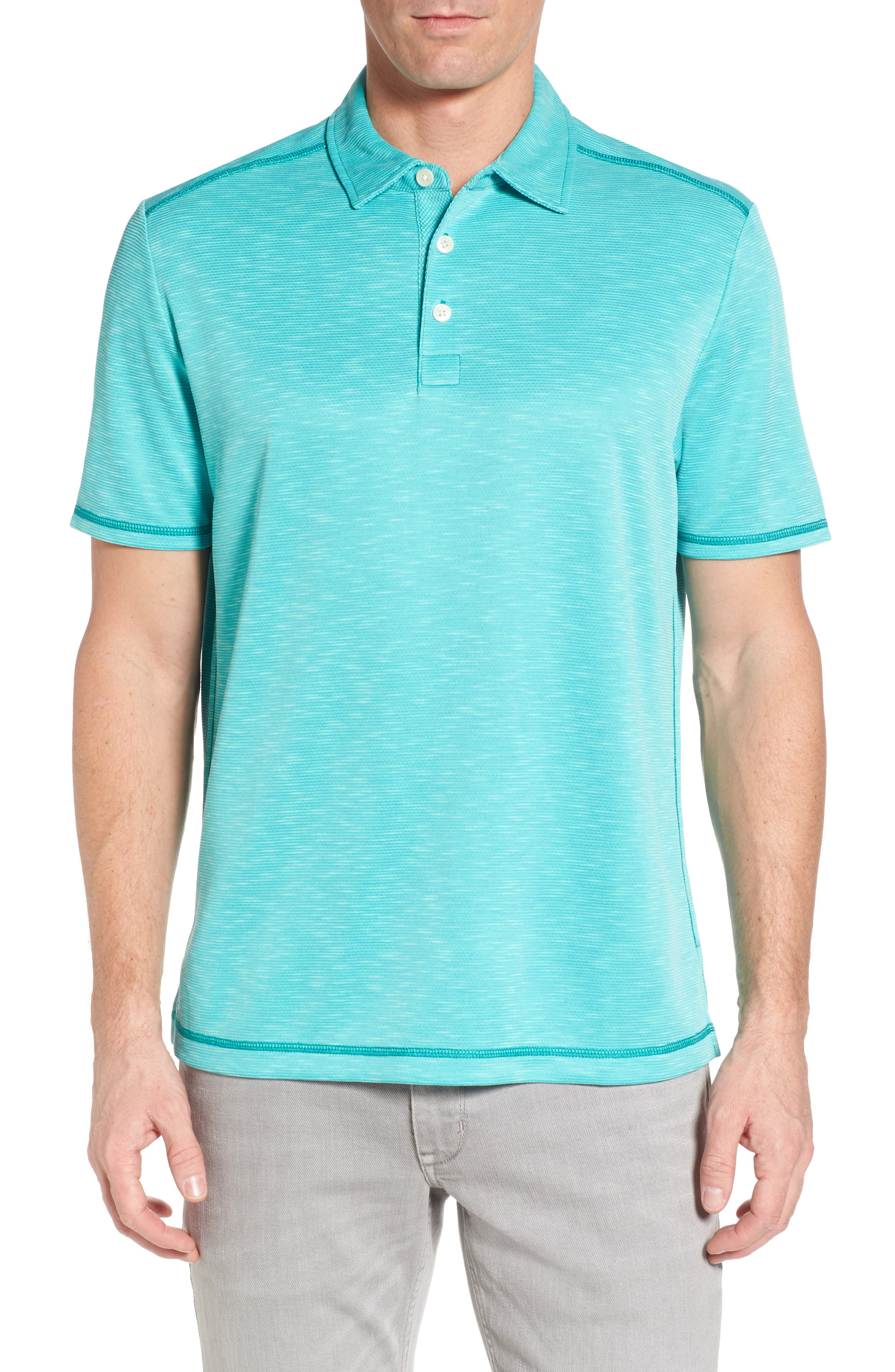 New Double Tempo Spectator Jersey Polo,                             Main thumbnail 1, color,                             Mint Mojito