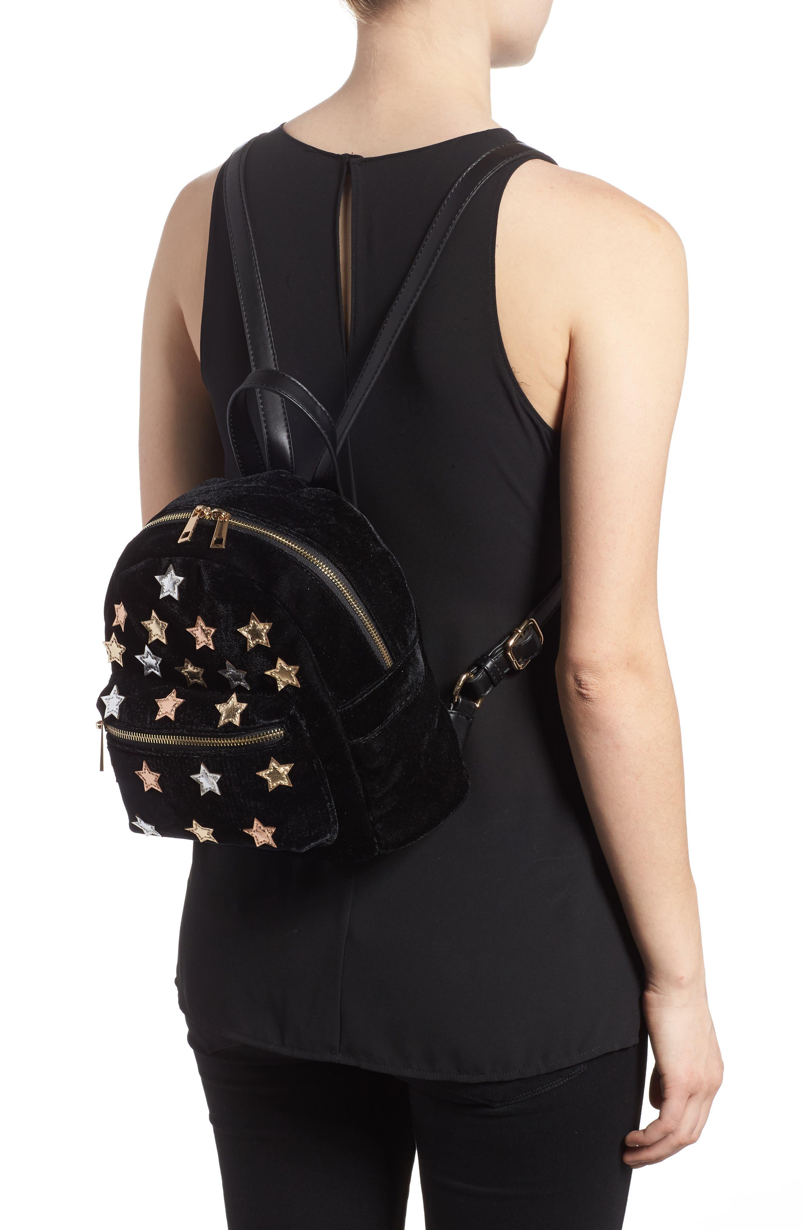 Star Mini Backpack,                             Alternate thumbnail 2, color,                             Black