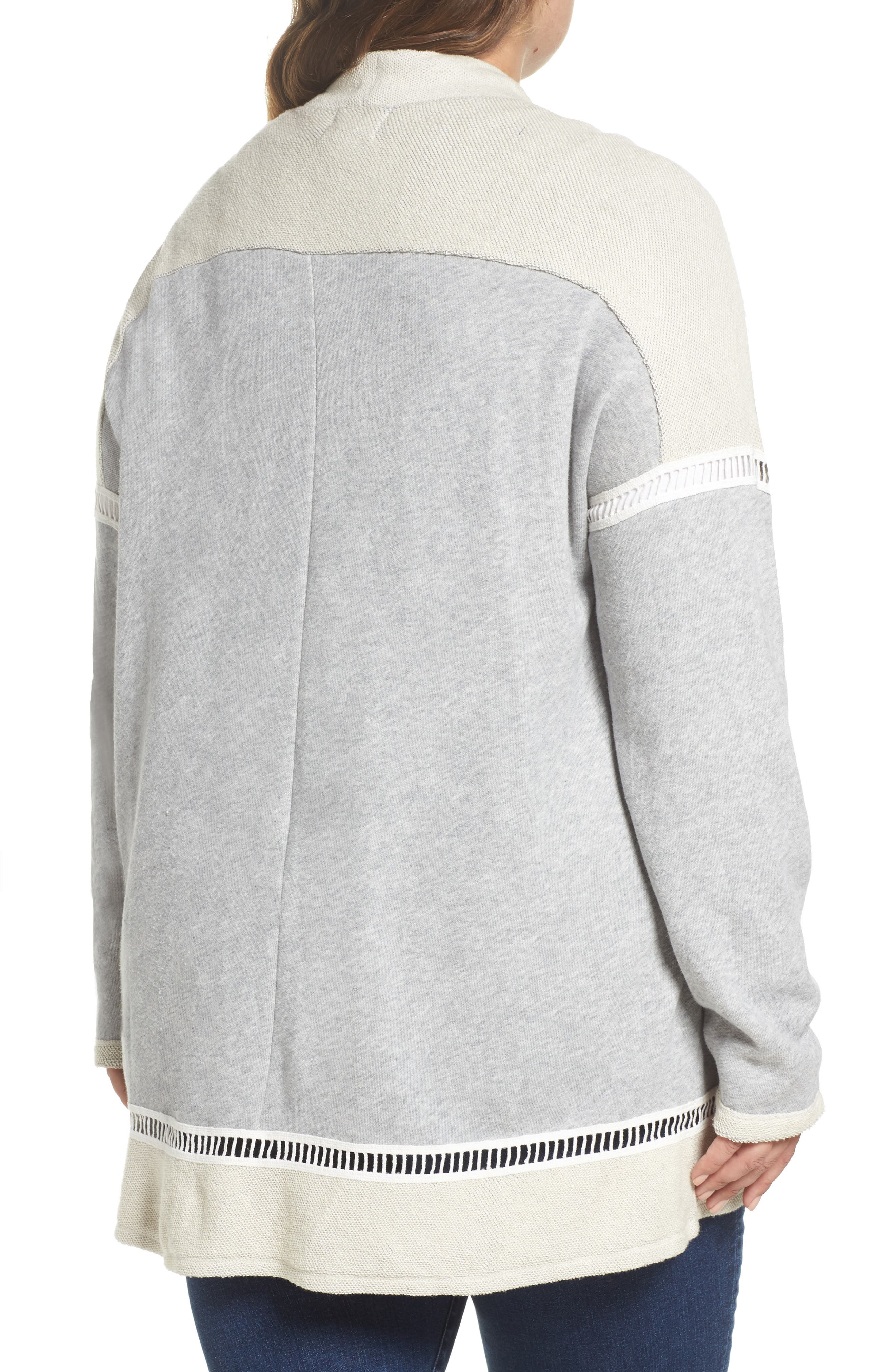 French Terry Cardigan,                             Alternate thumbnail 2, color,                             Grey Heather