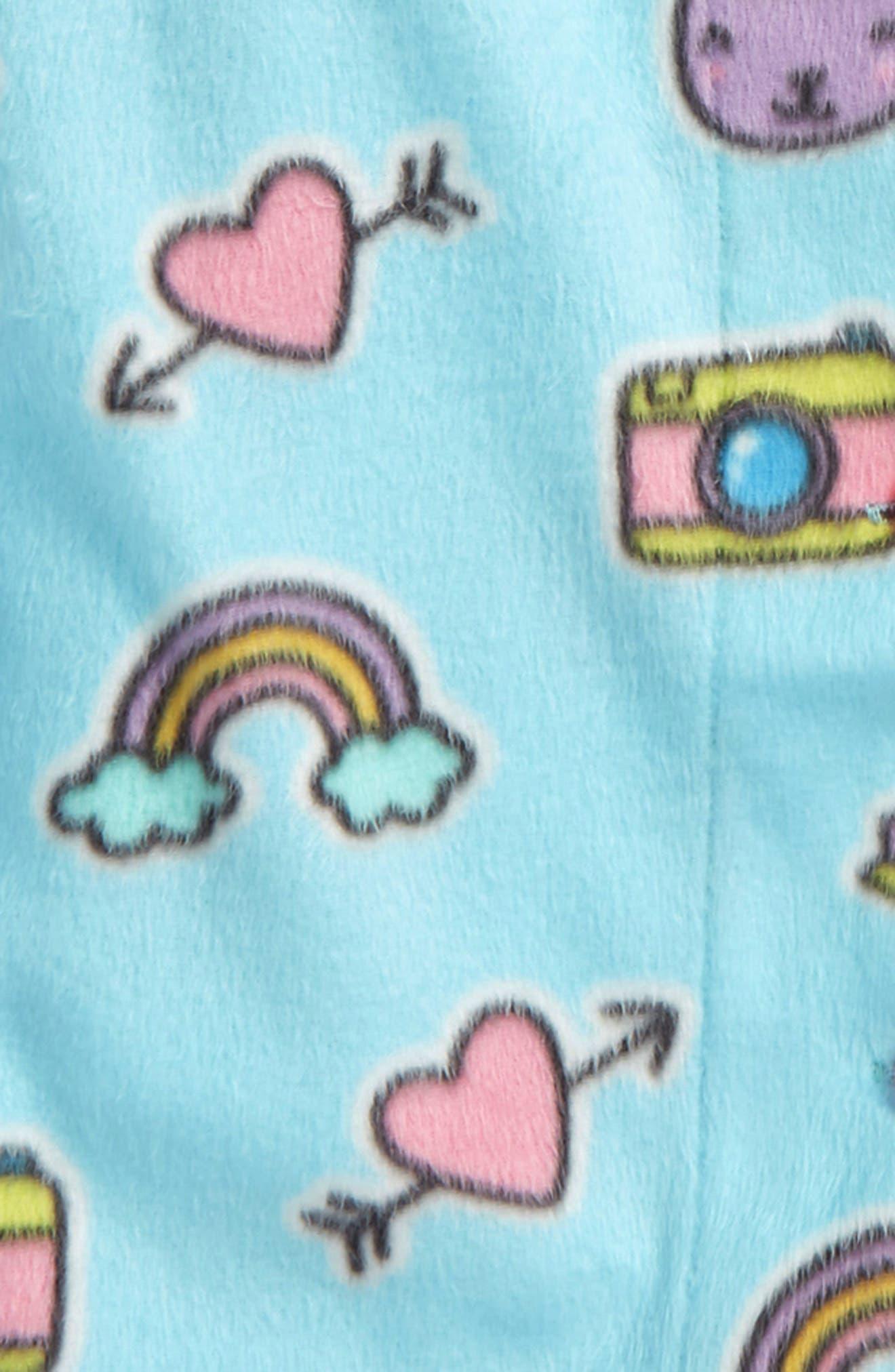 Alternate Image 2  - PJ Salvage Two-Piece Fleece Pajamas (Big Girls)