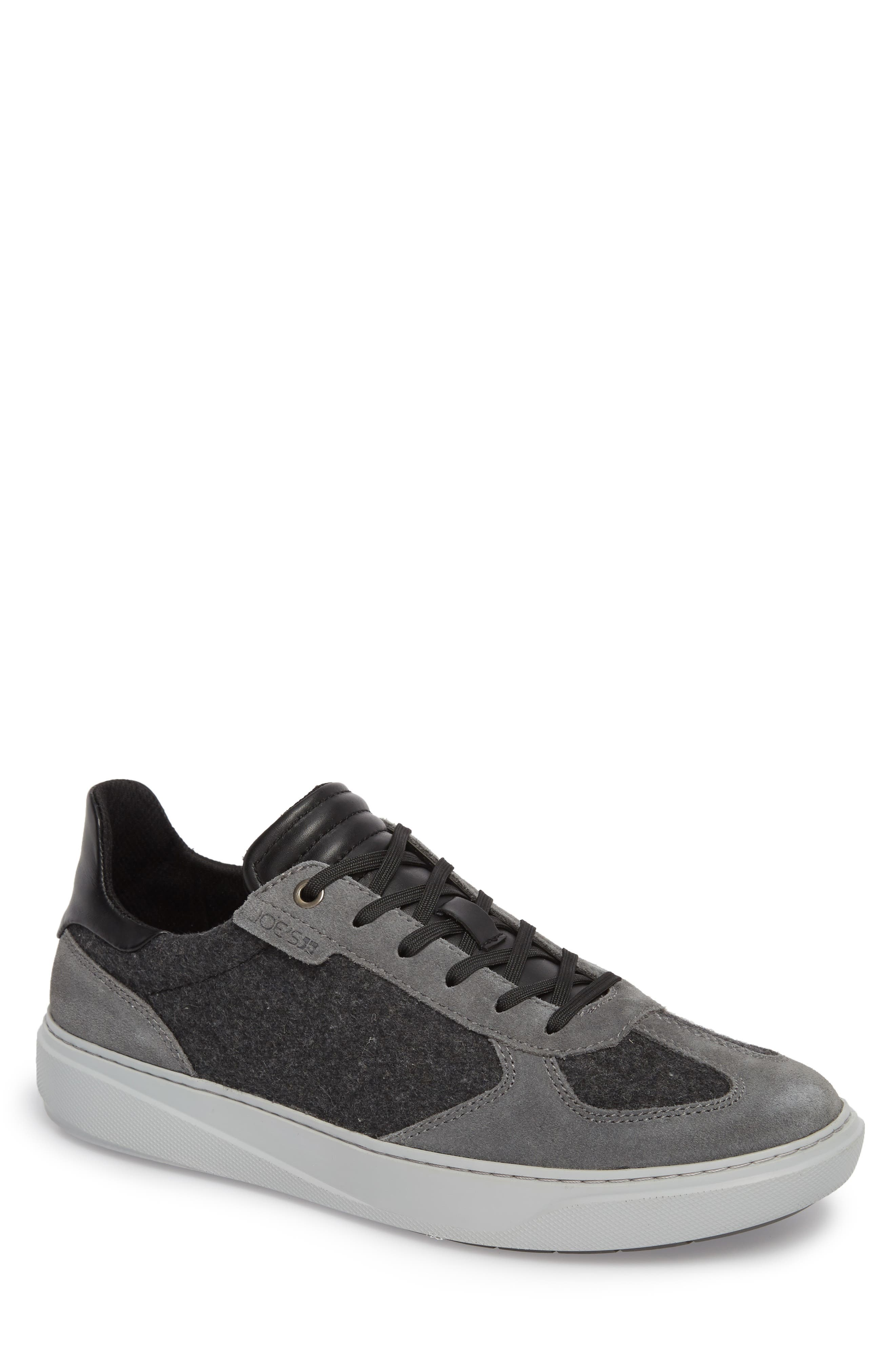 Mo Joe Sneaker,                         Main,                         color, Charcoal Wool/ Suede