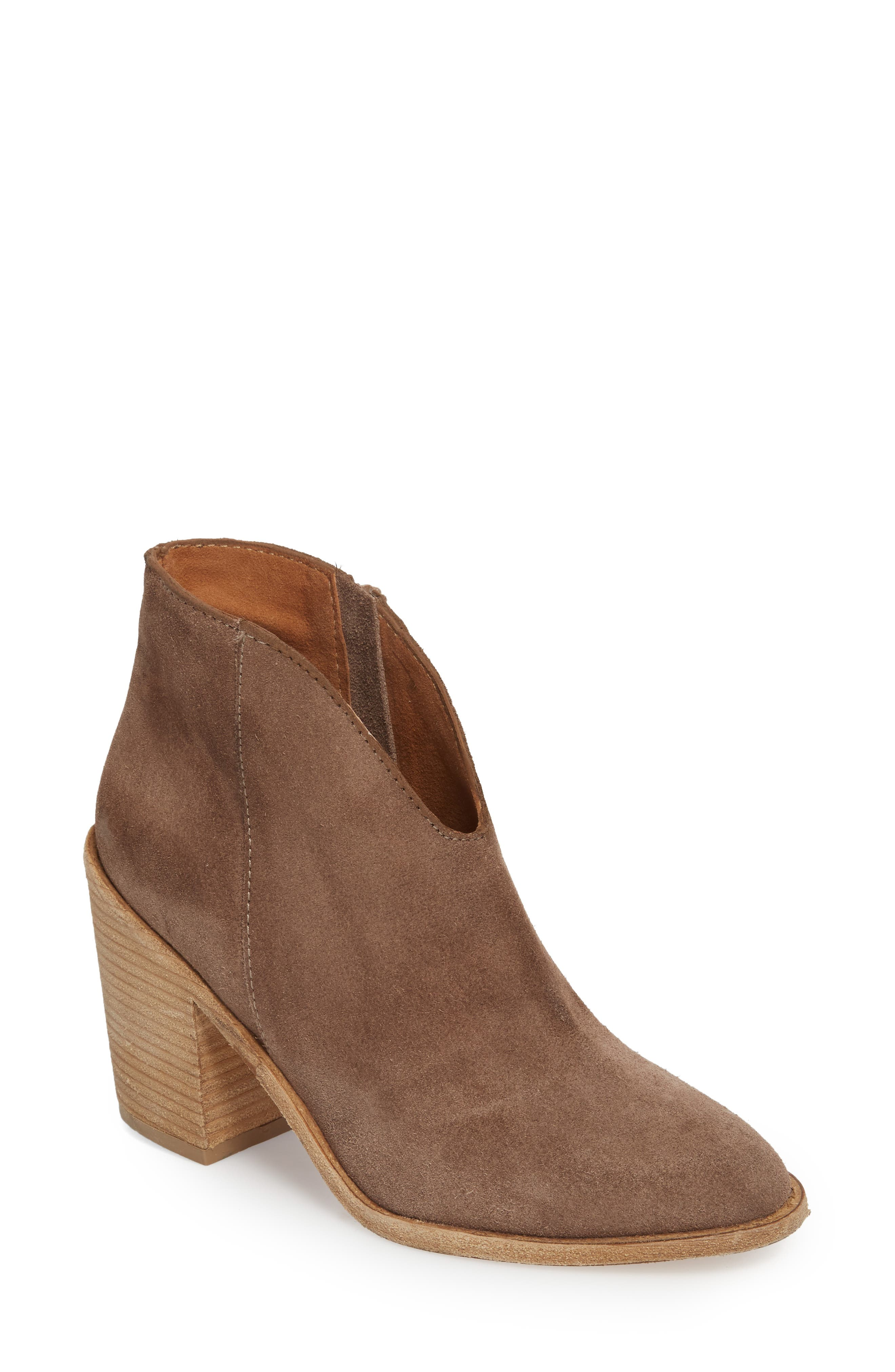 Kamet Bootie,                         Main,                         color, Taupe Oiled Suede
