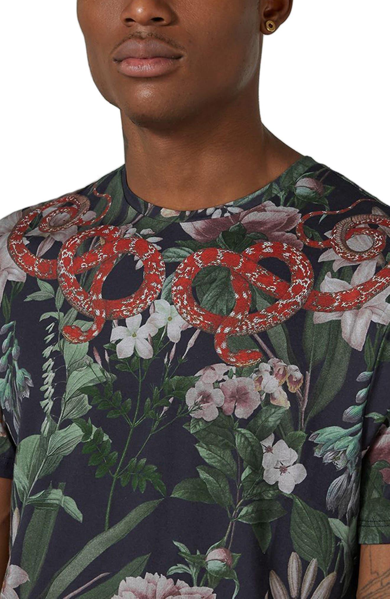 Alternate Image 2  - Topman Snake Print T-Shirt