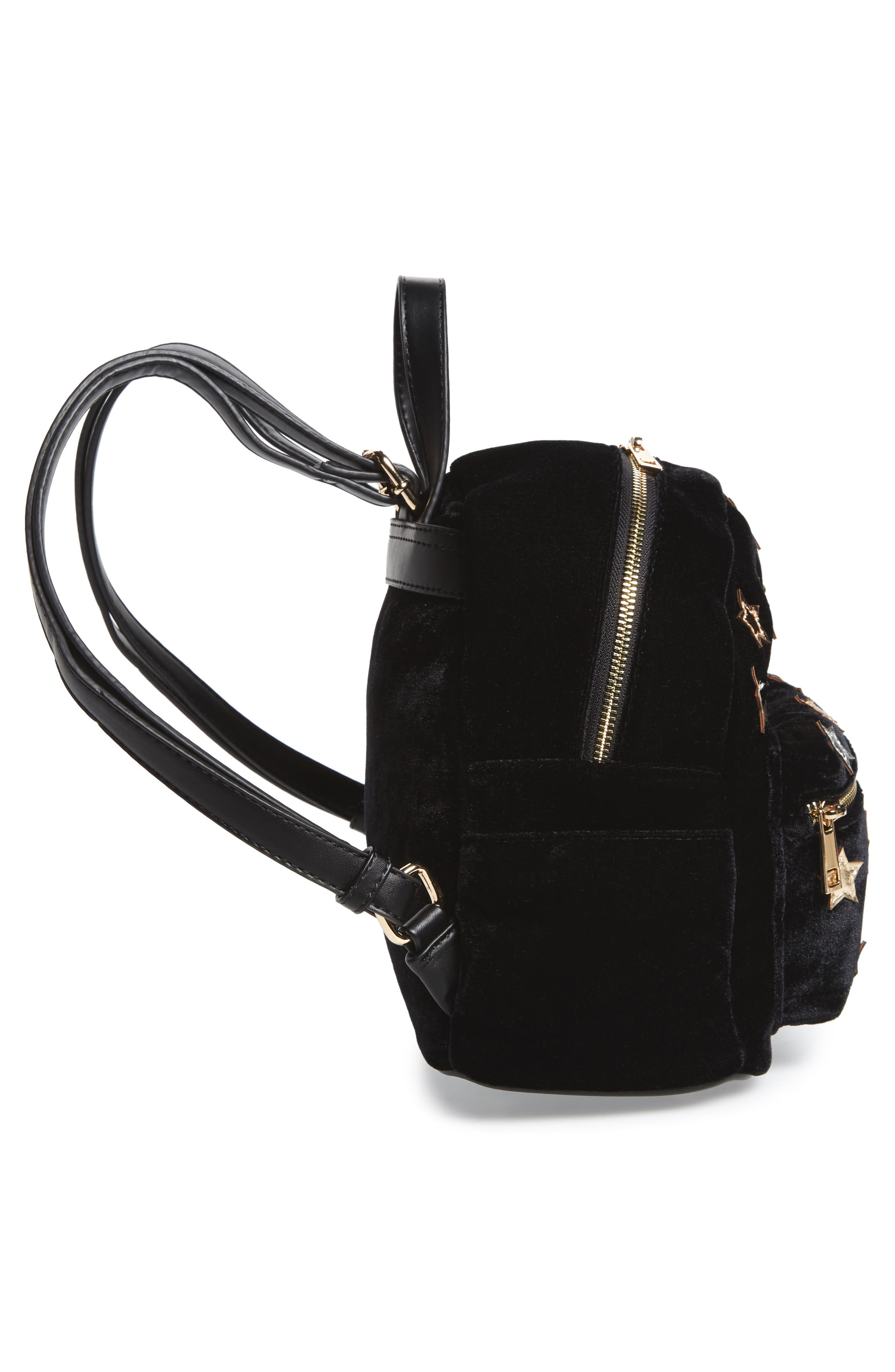 Star Mini Backpack,                             Alternate thumbnail 5, color,                             Black