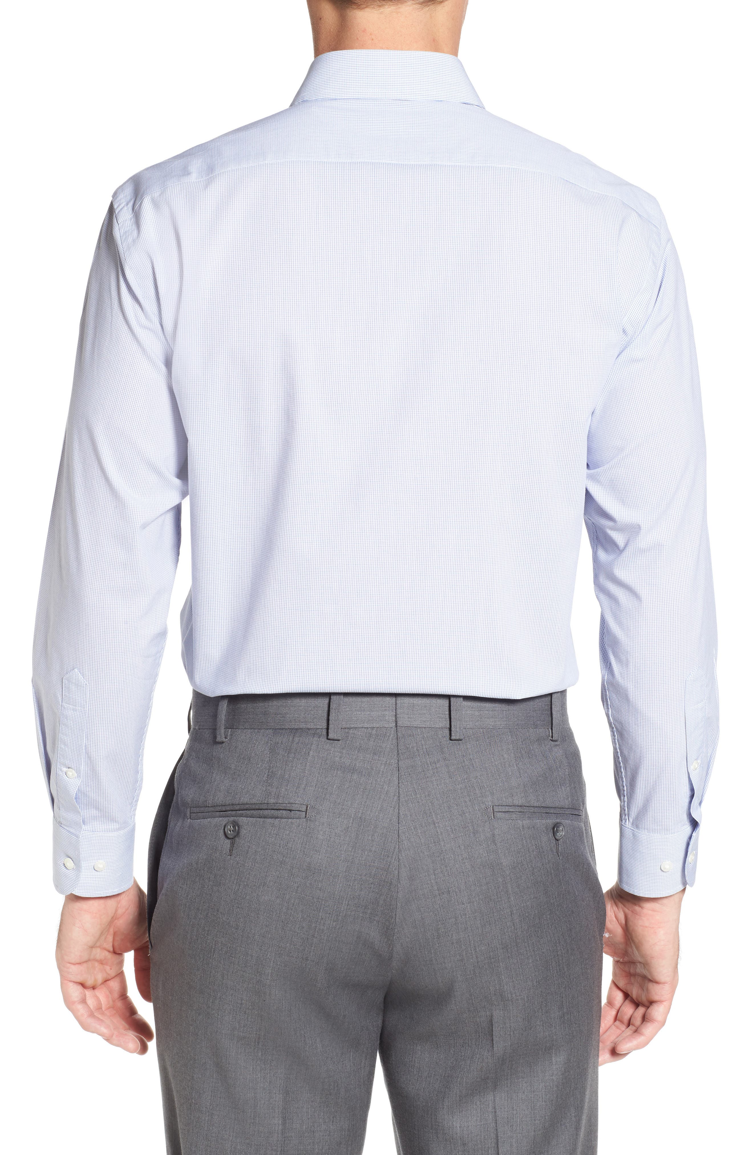 Alternate Image 2  - Nordstrom Men's Shop Tech-Smart Traditional Fit Stretch Check Dress Shirt