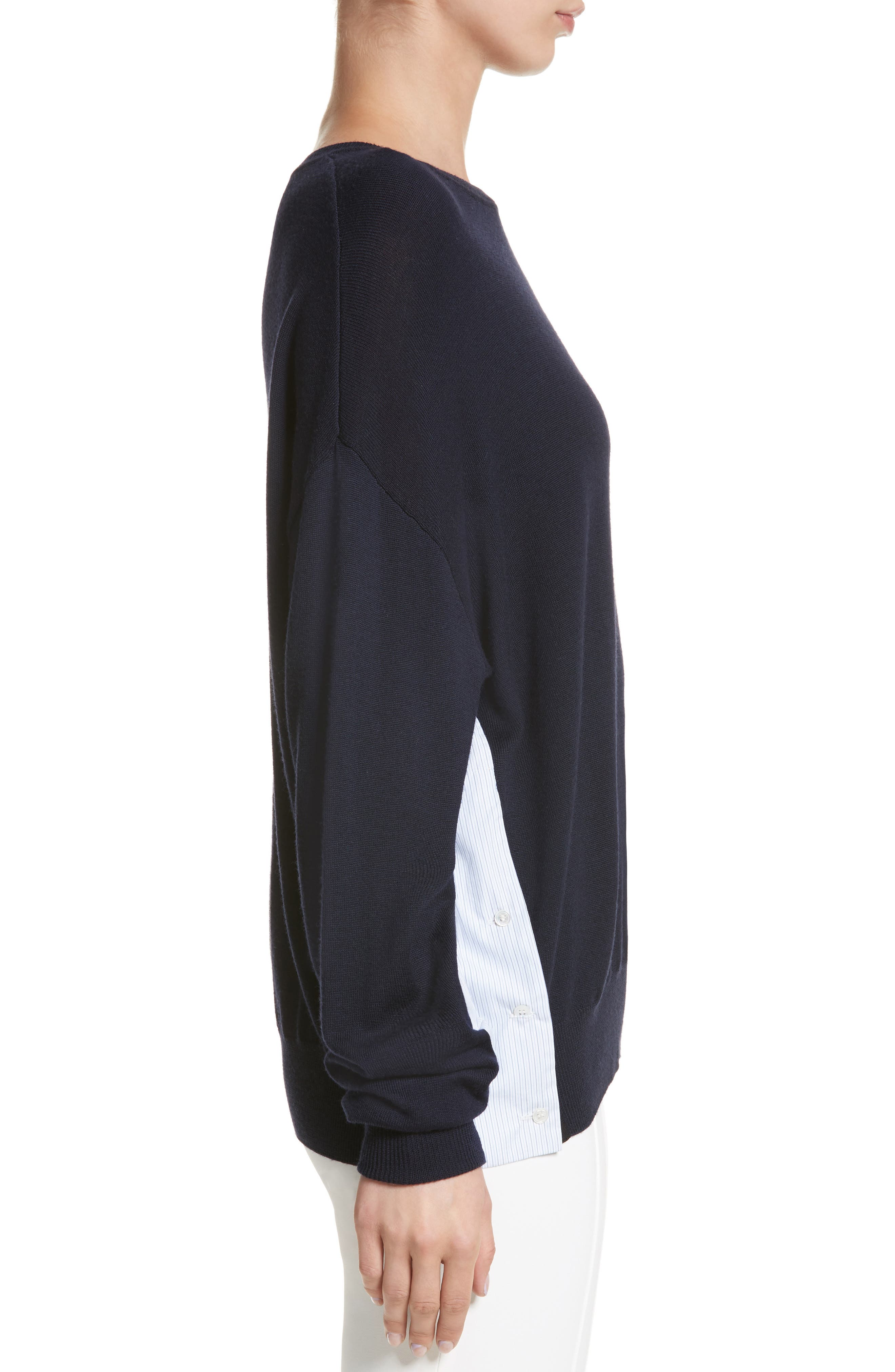 Alternate Image 3  - Adam Lippes Cotton Gusset Merino Wool Sweater