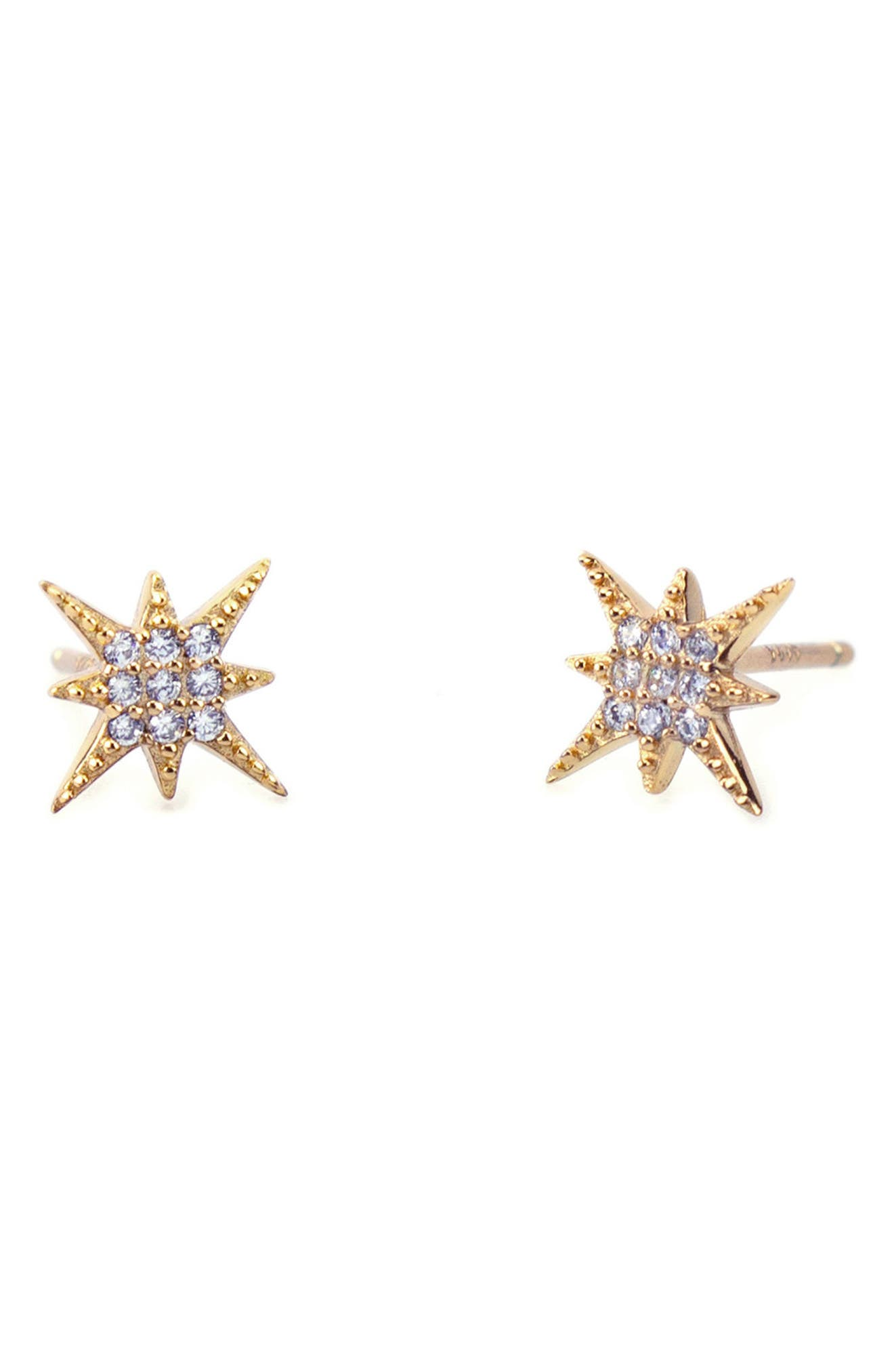 Alternate Image 1 Selected - Kris Nations Pavé Starburst Stud Earrings