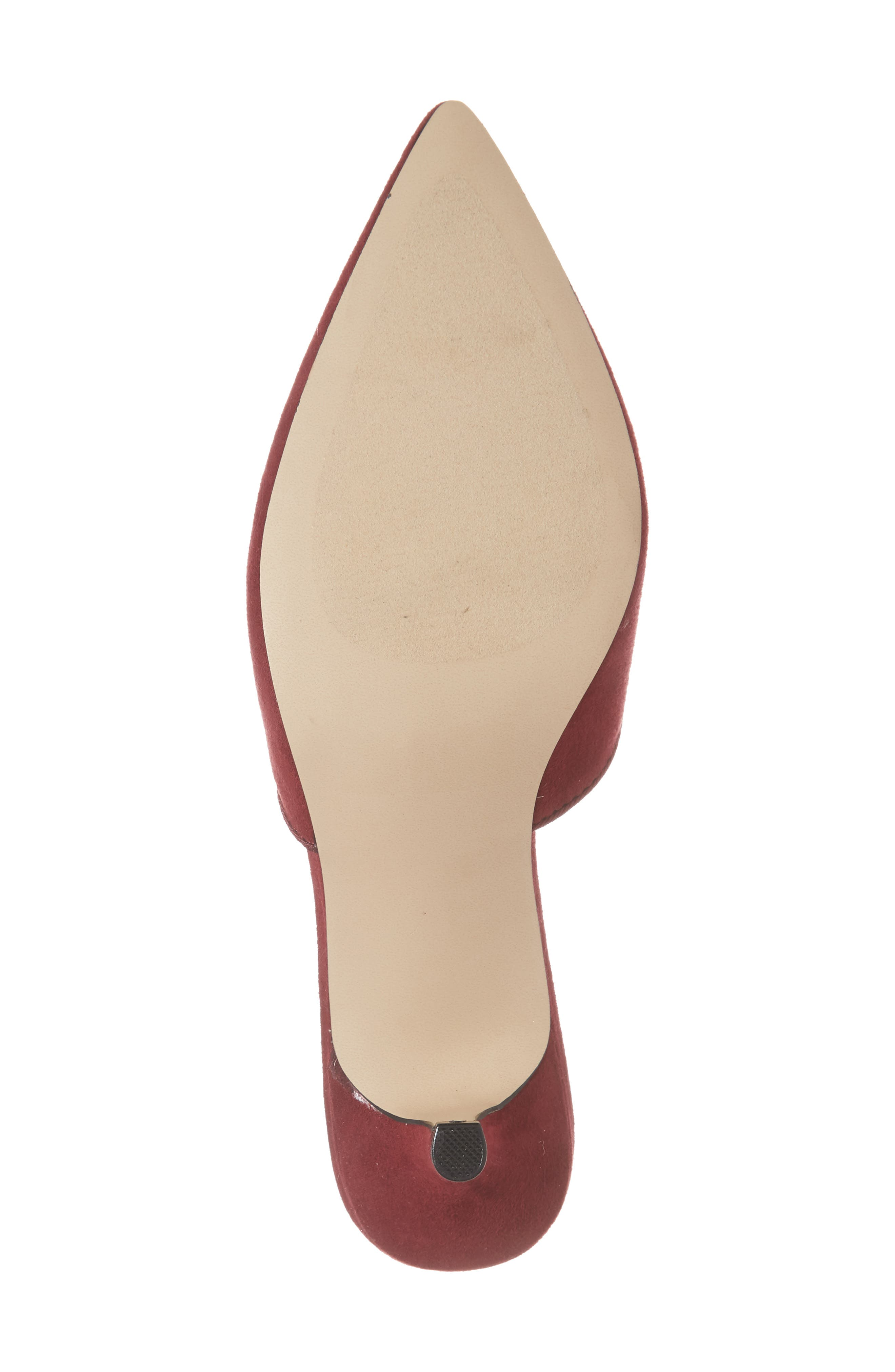 Jasper Pointy Toe Mule,                             Alternate thumbnail 5, color,                             Wine Suede