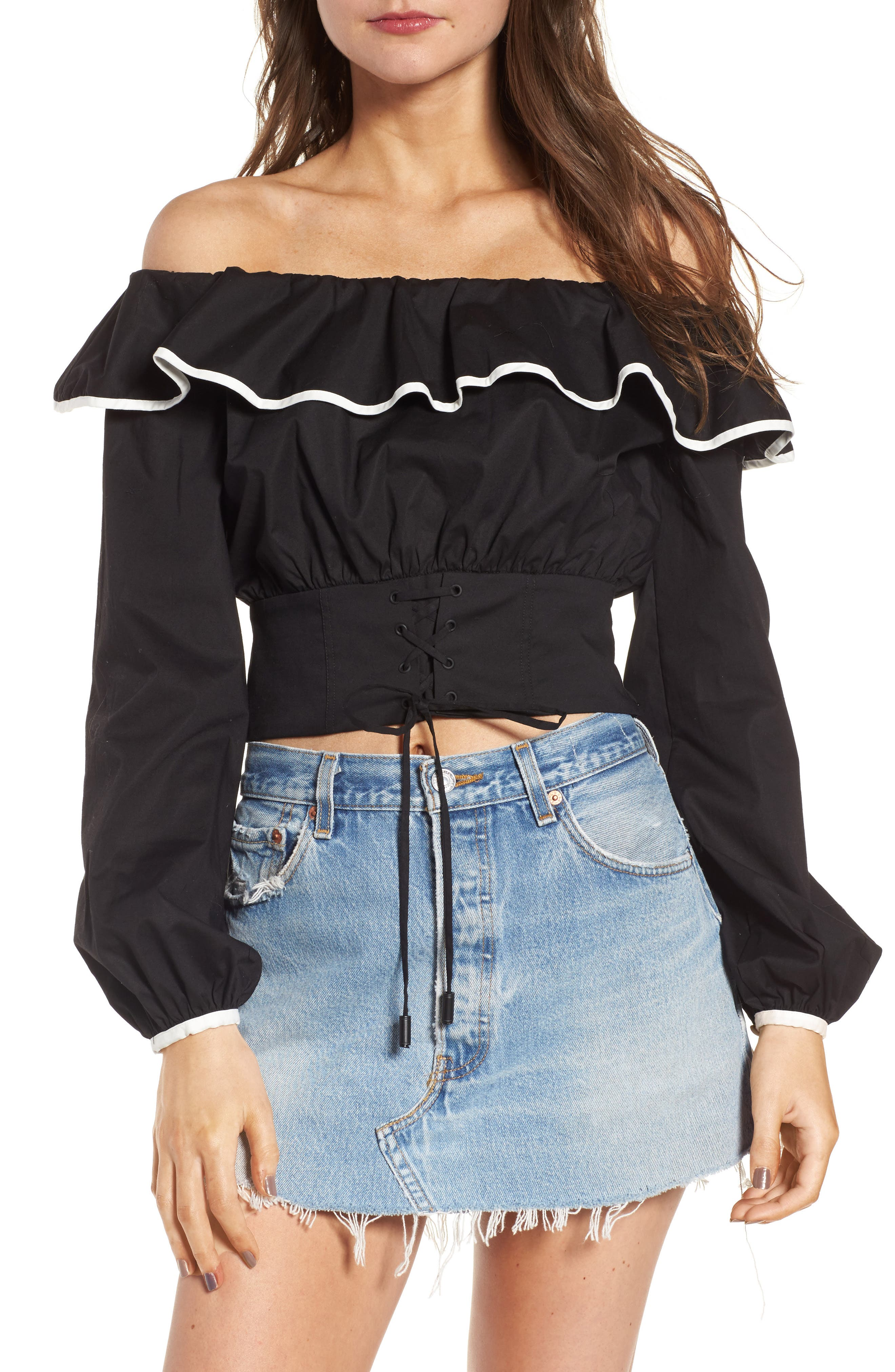 Lovers + Friends Bailey Off the Shoulder Top