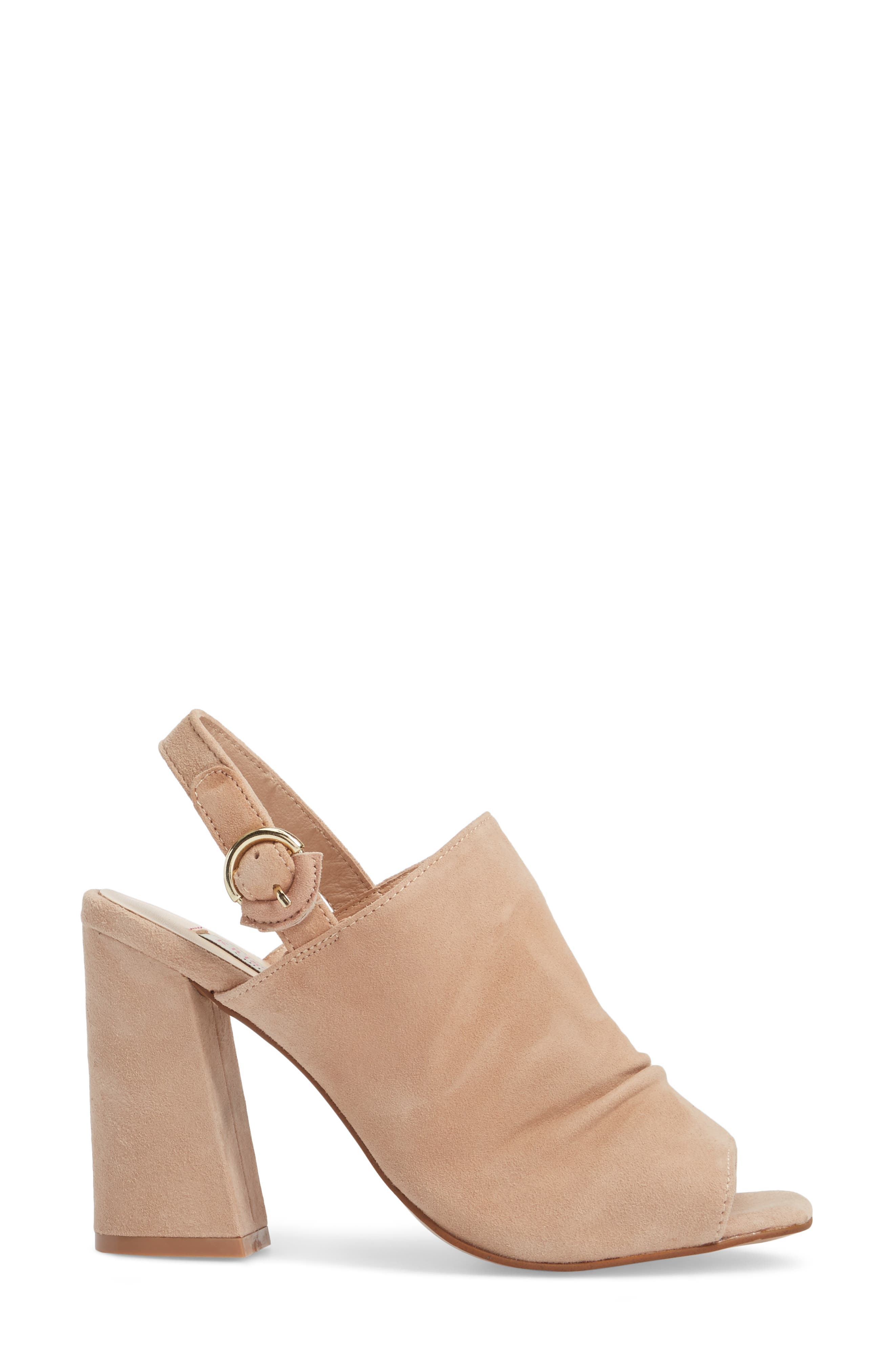 Lilla Slingback Sandal,                             Alternate thumbnail 3, color,                             Tigers Eye Suede