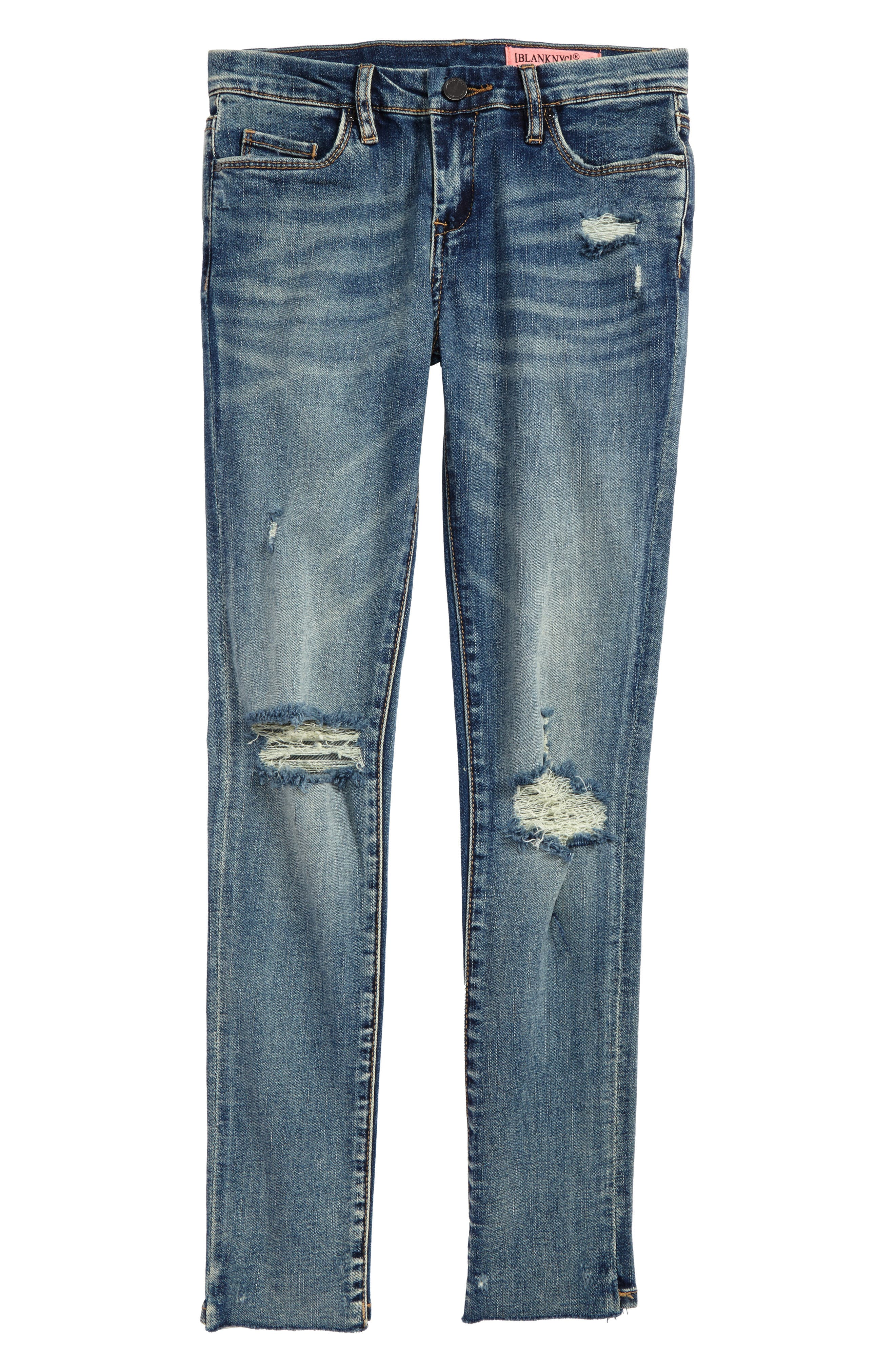 BLANKNYC Shot Not Distressed Skinny Jeans (Big Girls)