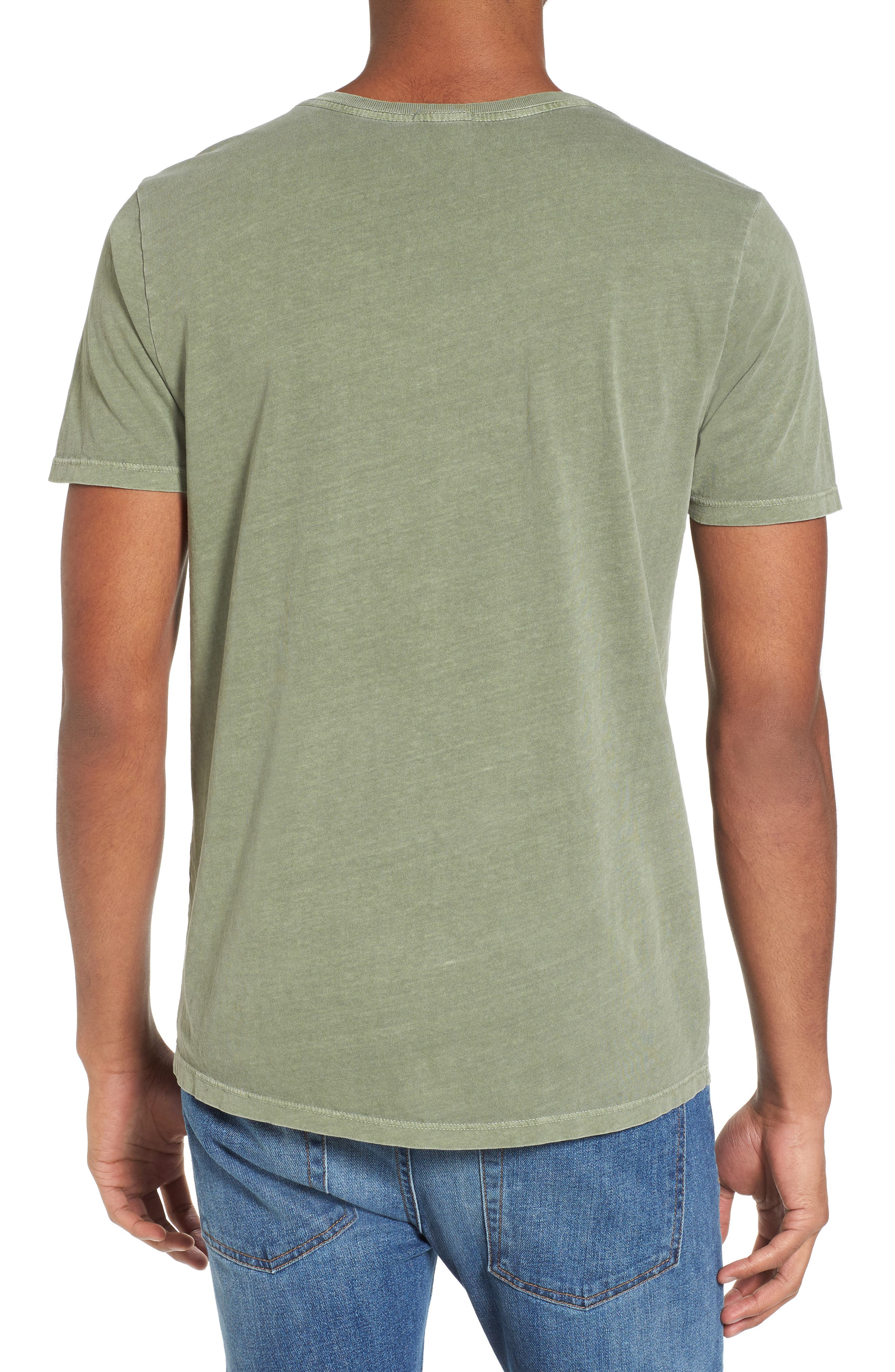 Fillmore Street Vintage Graphic T-Shirt,                             Alternate thumbnail 2, color,                             Army Green