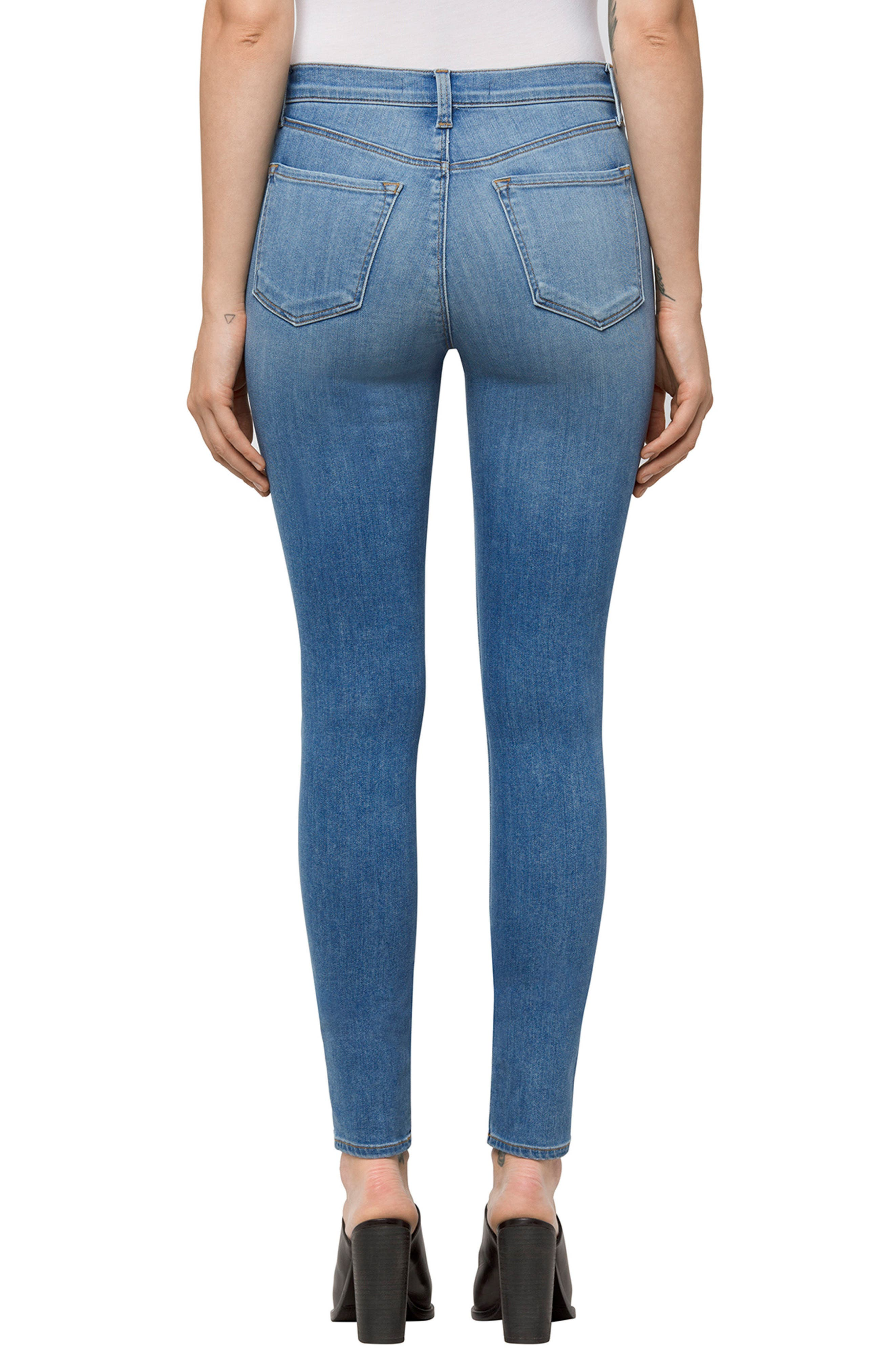 Alternate Image 2  - J Brand Maria High Waist Skinny Jeans (Fleeting)
