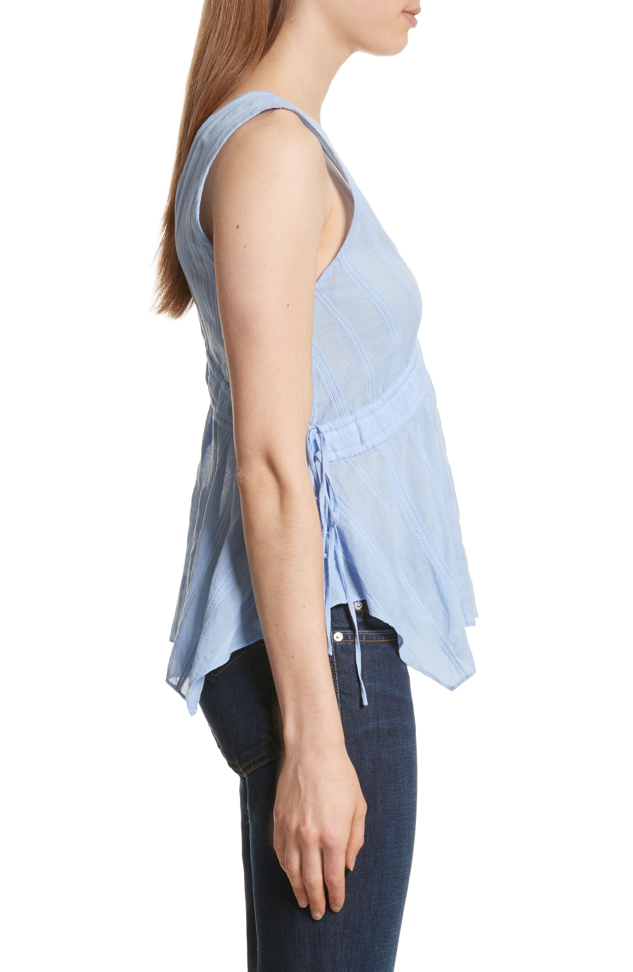 Side Tie Top,                             Alternate thumbnail 3, color,                             French Blue
