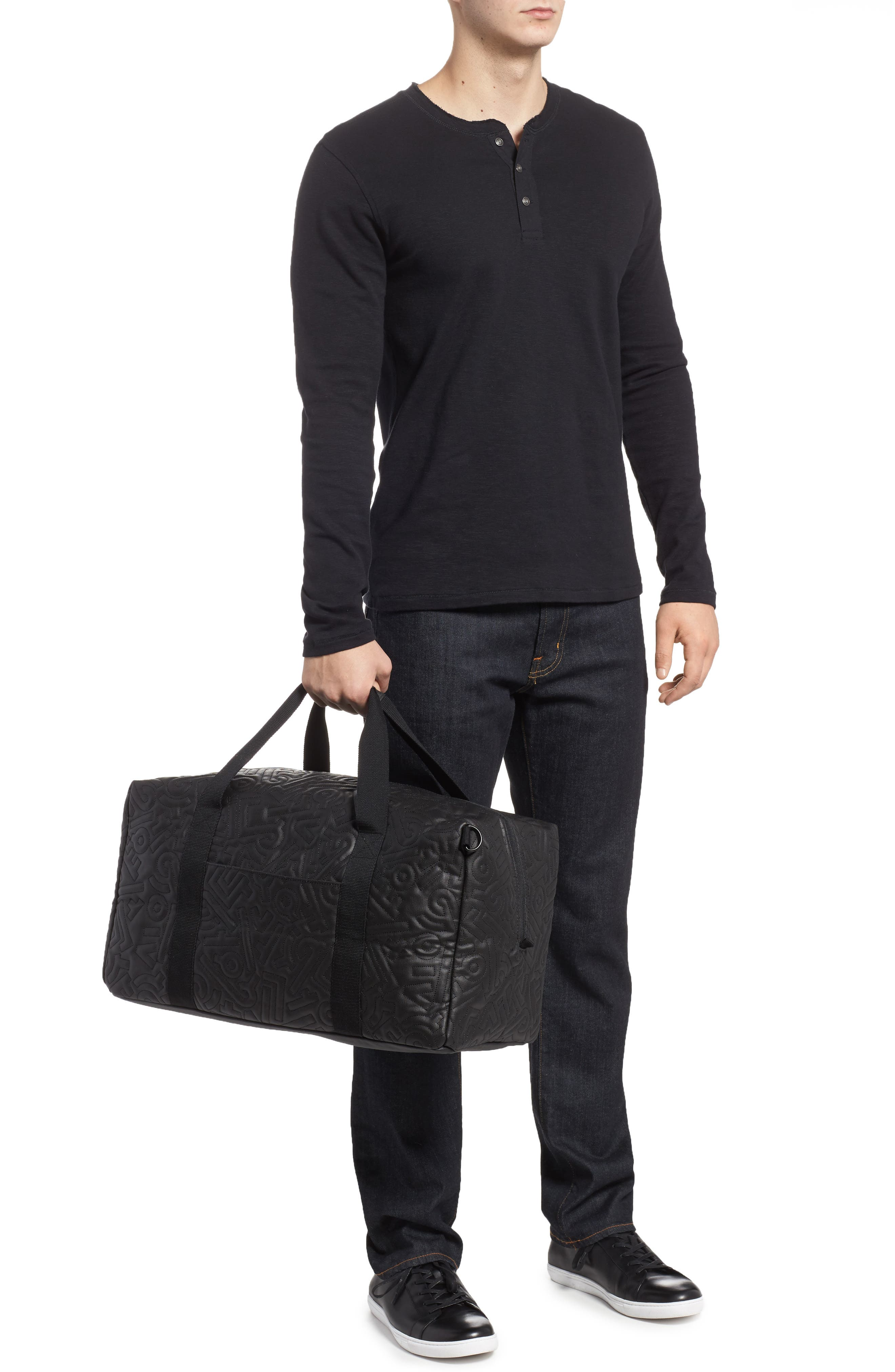 x Aaron De La Cruz Drifter Duffel Bag,                             Alternate thumbnail 2, color,                             Black Quilt