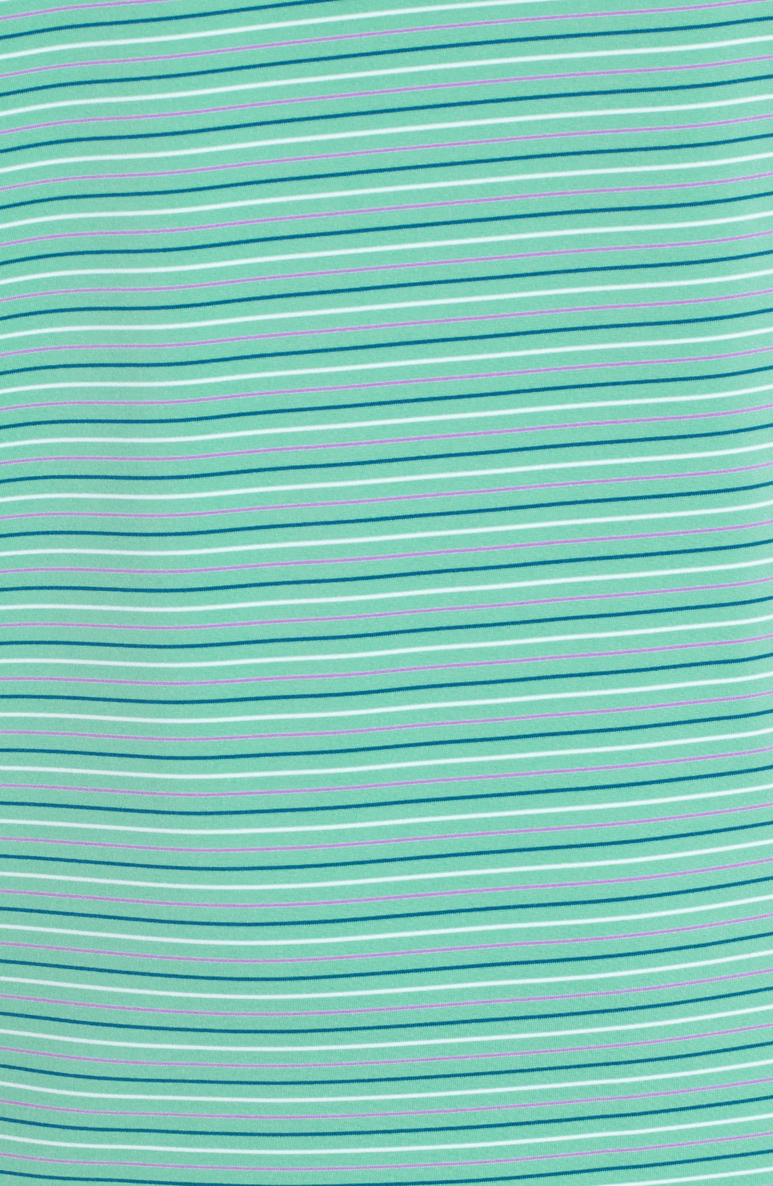 Multicolor Stripe Polo,                             Alternate thumbnail 5, color,                             Antigua Green