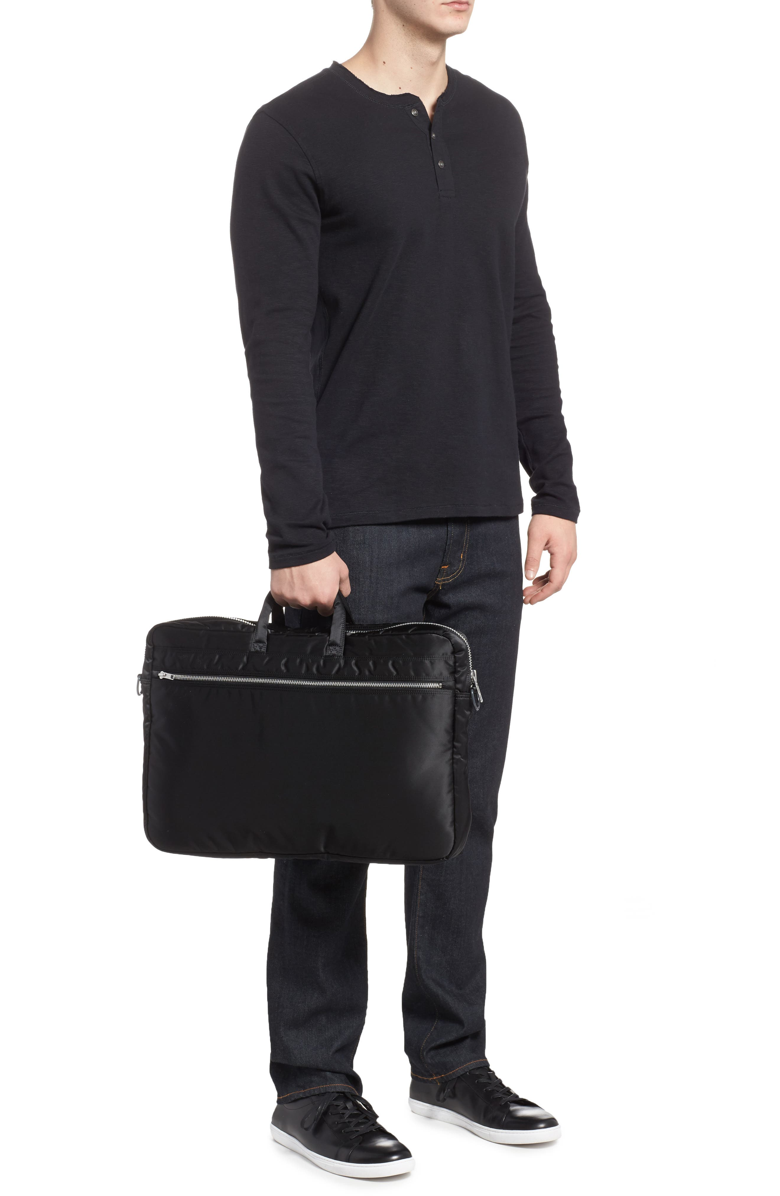 Porter-Yoshida & Co. Tanker Two-Way Briefcase,                             Alternate thumbnail 2, color,                             Black