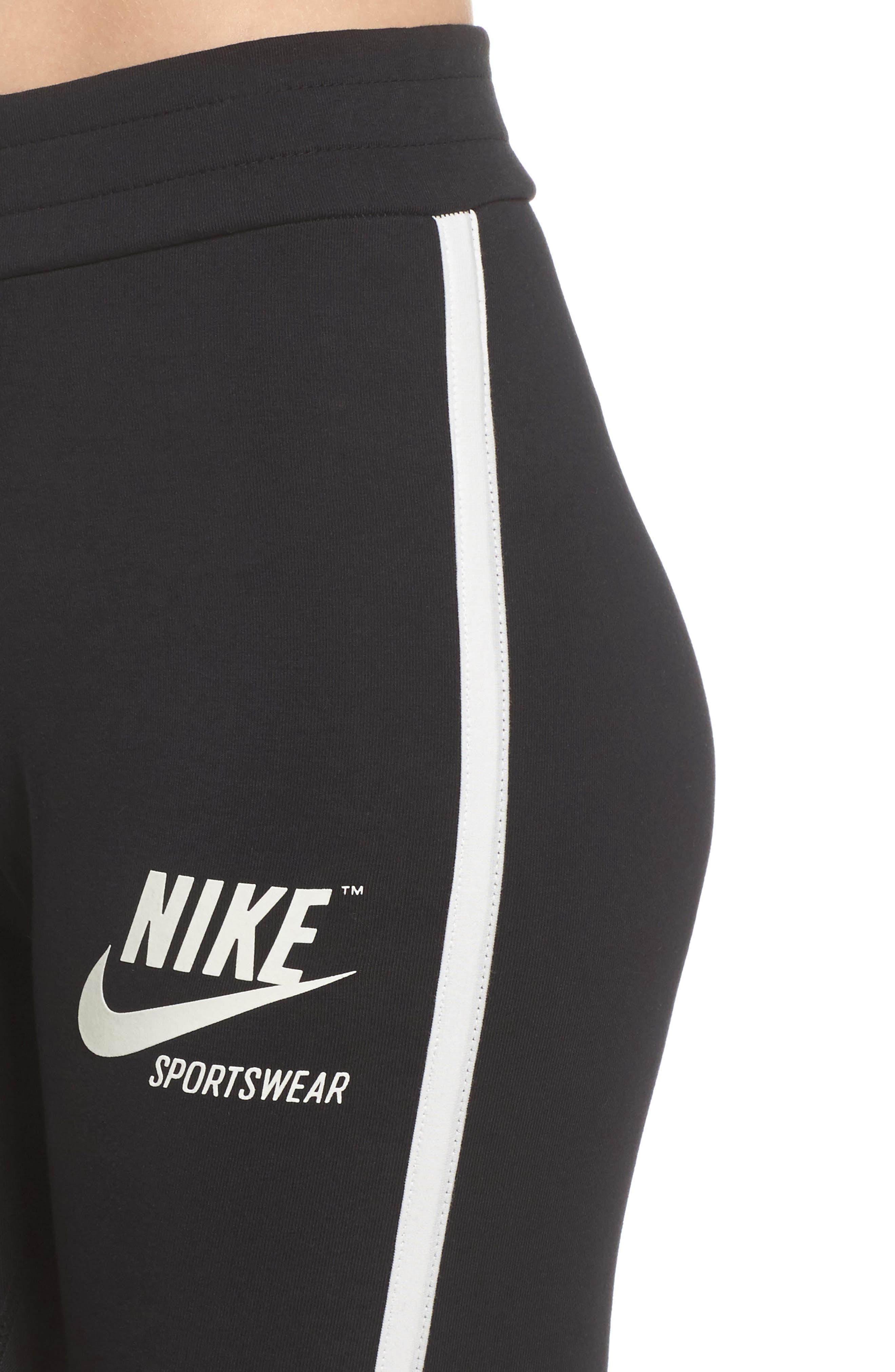 Sportswear Women's Leggings,                             Alternate thumbnail 4, color,                             Black/ Sail