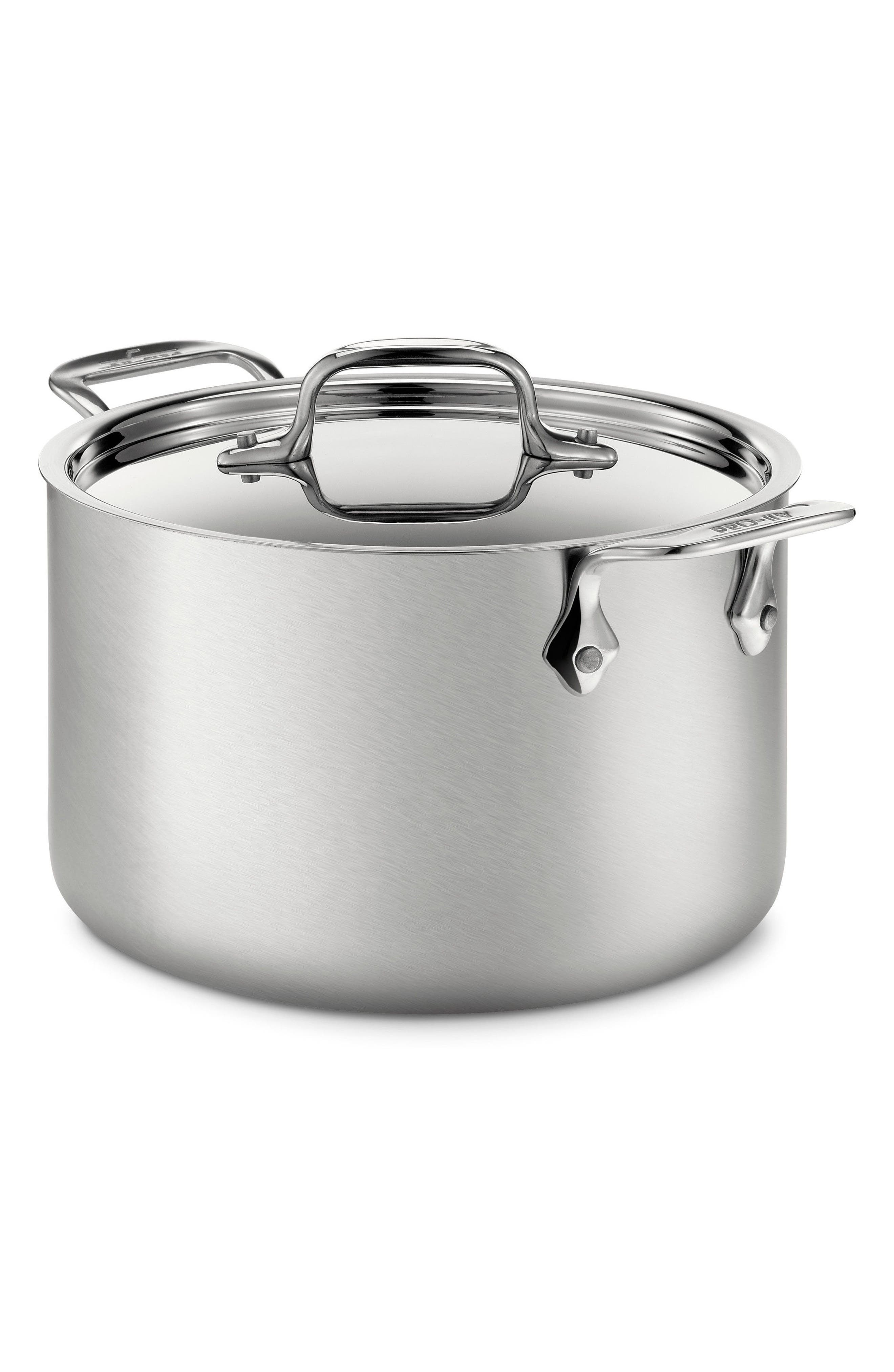 4-Quart Stainless Steel Soup Pot,                             Main thumbnail 1, color,                             Stainless