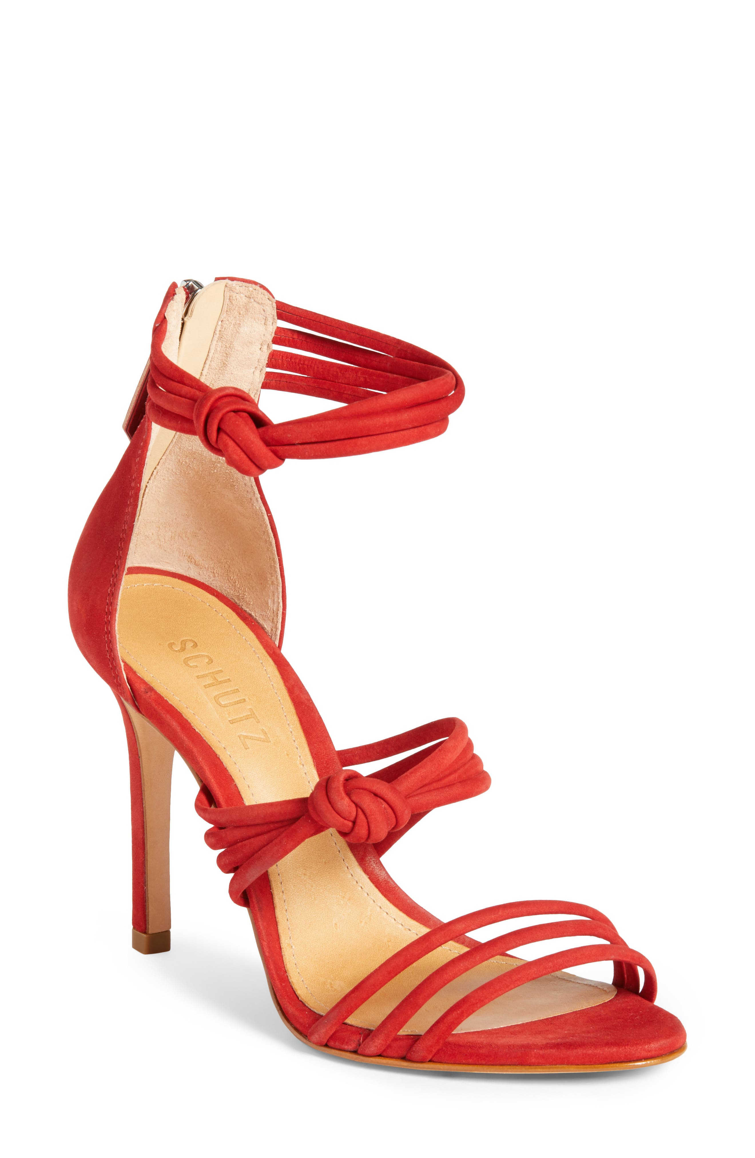 Suely Sandal,                         Main,                         color, Tango Red