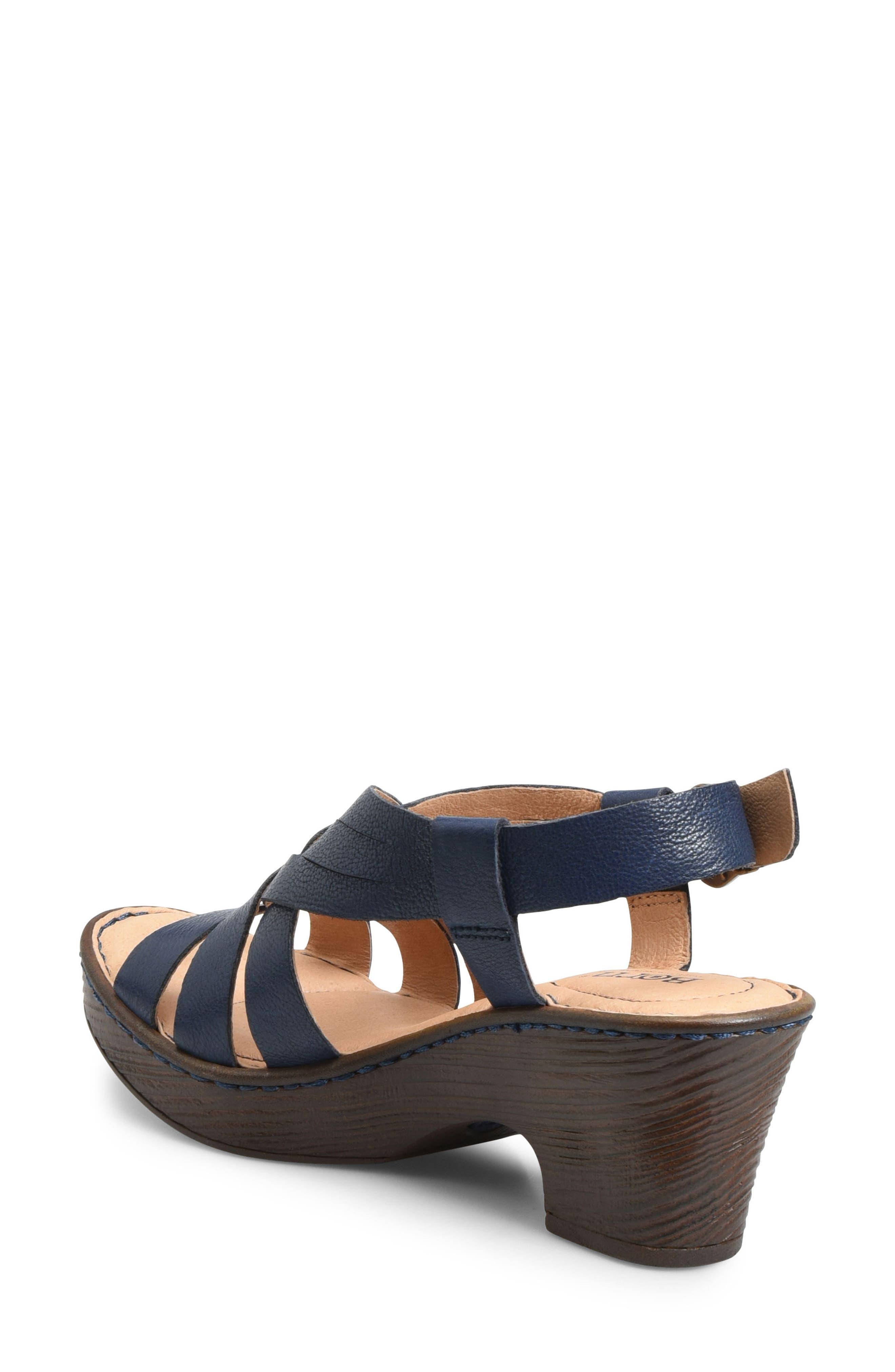 Crevalle Platform Sandal,                             Alternate thumbnail 2, color,                             Navy Leather