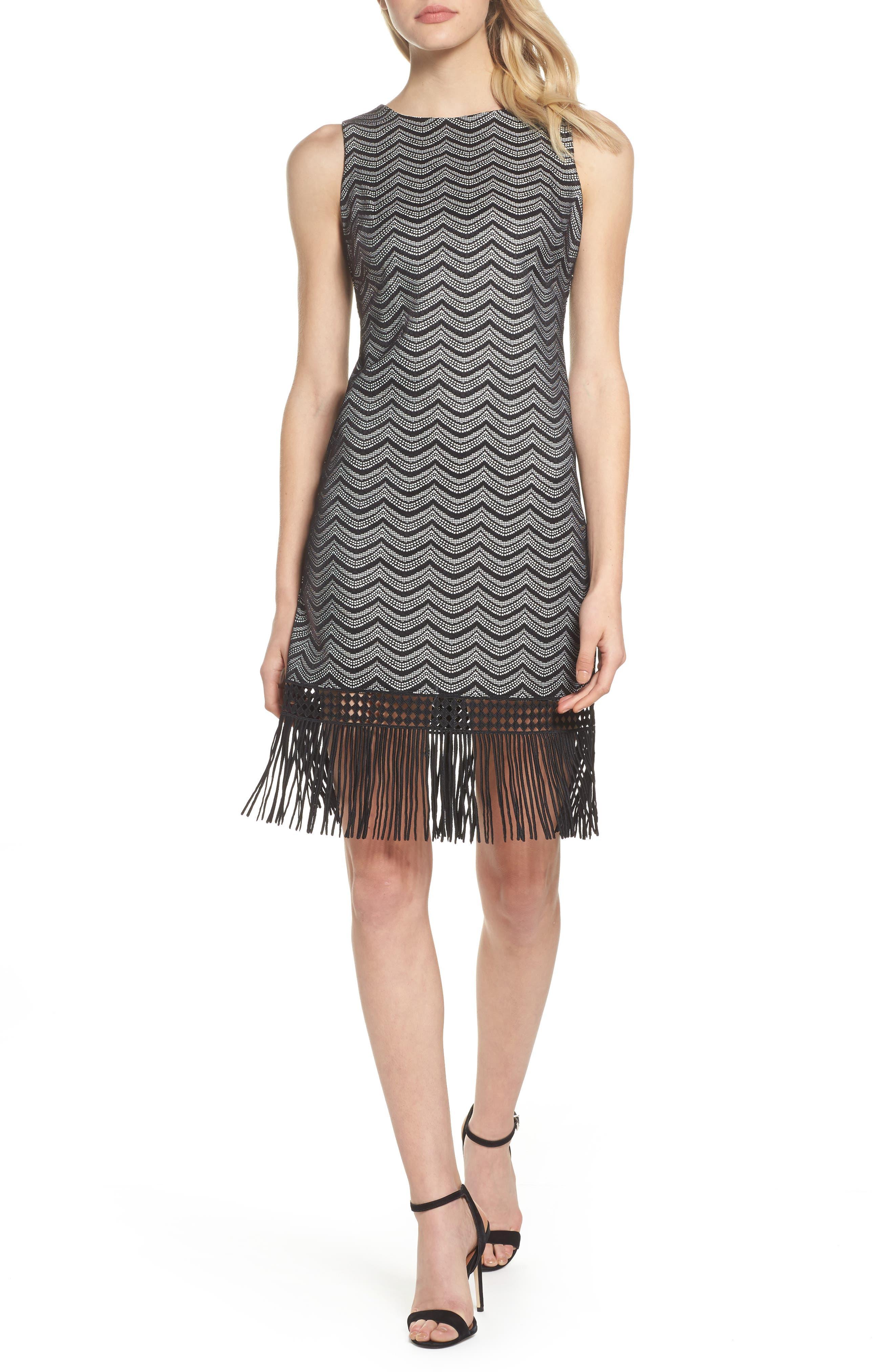 Main Image - Julia Jordan Fringe Sheath Dress