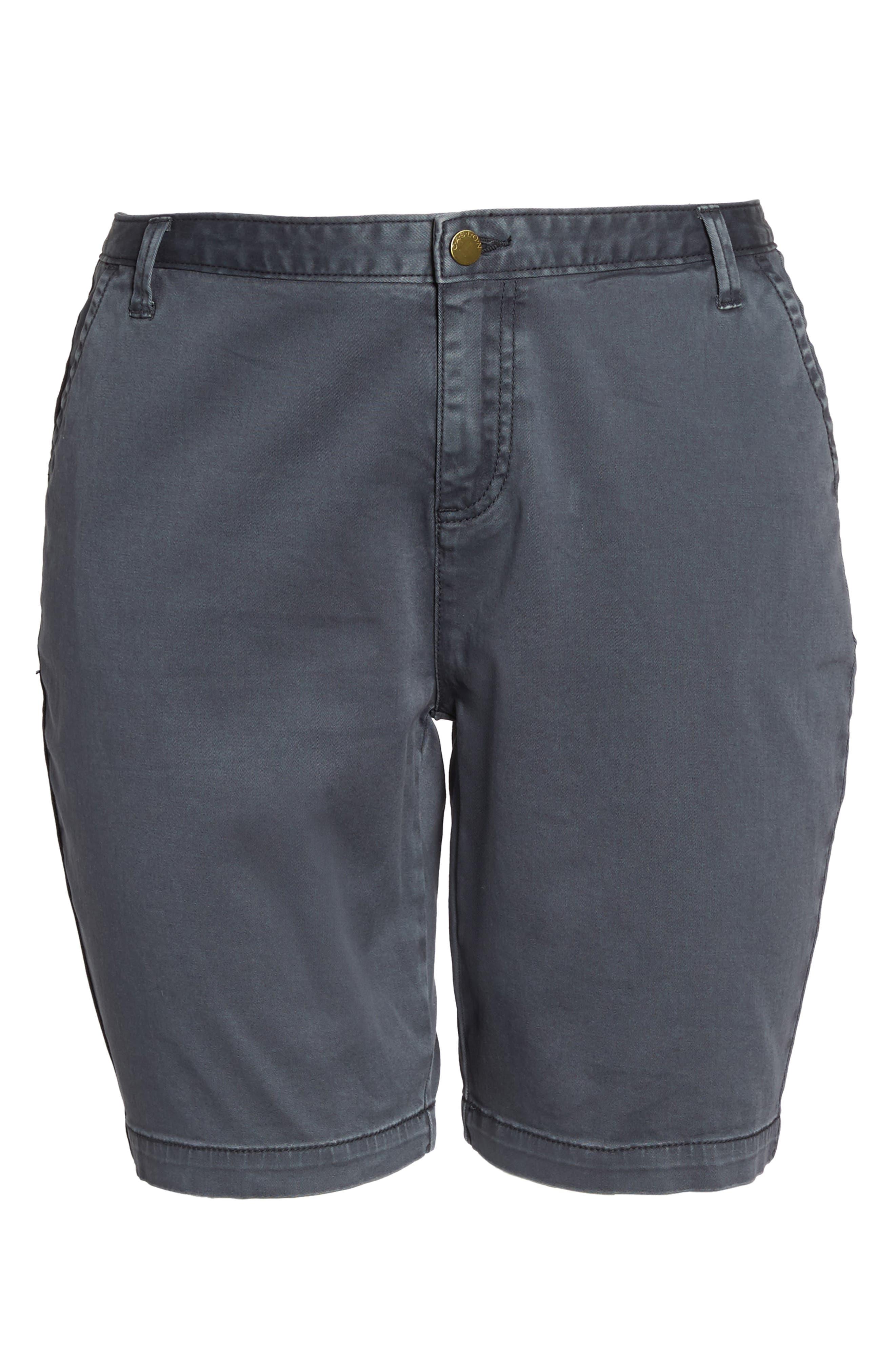 Twill Shorts,                             Alternate thumbnail 7, color,                             Grey Ebony