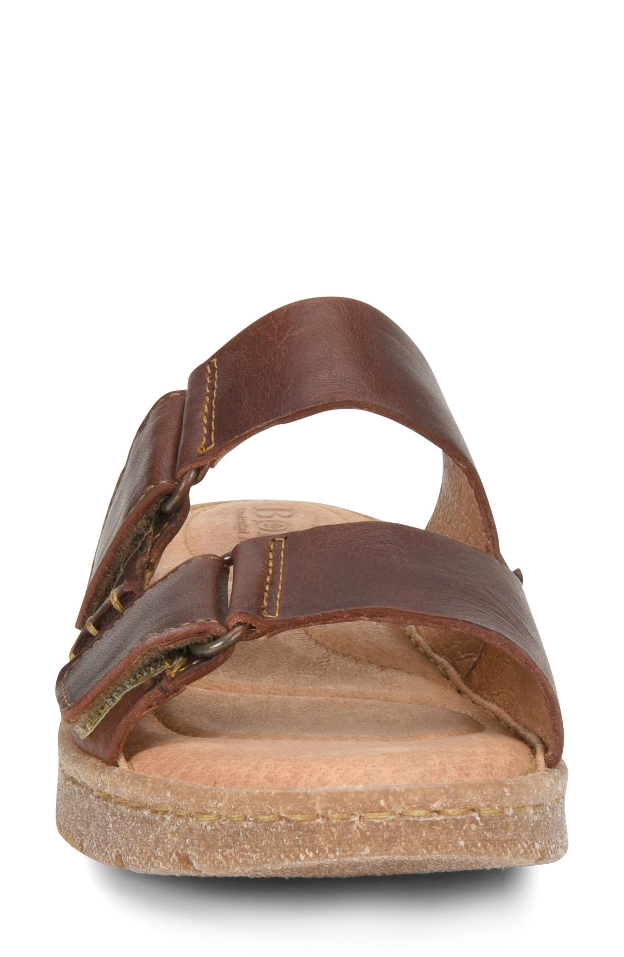 Dominica Sandal,                             Alternate thumbnail 4, color,                             Rust Leather