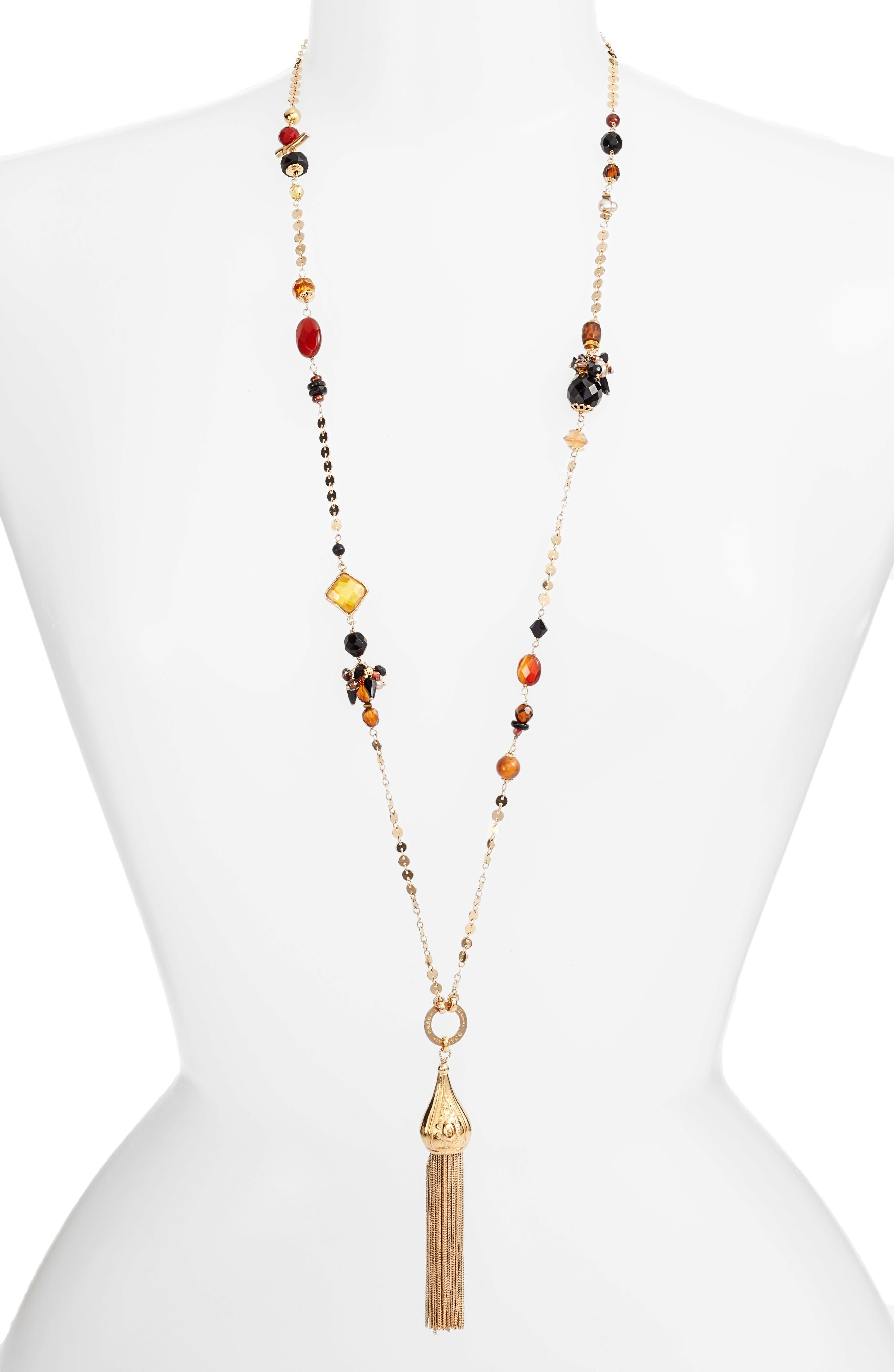 Alternate Image 1 Selected - Gas Bijoux Pompom Tassel Necklace