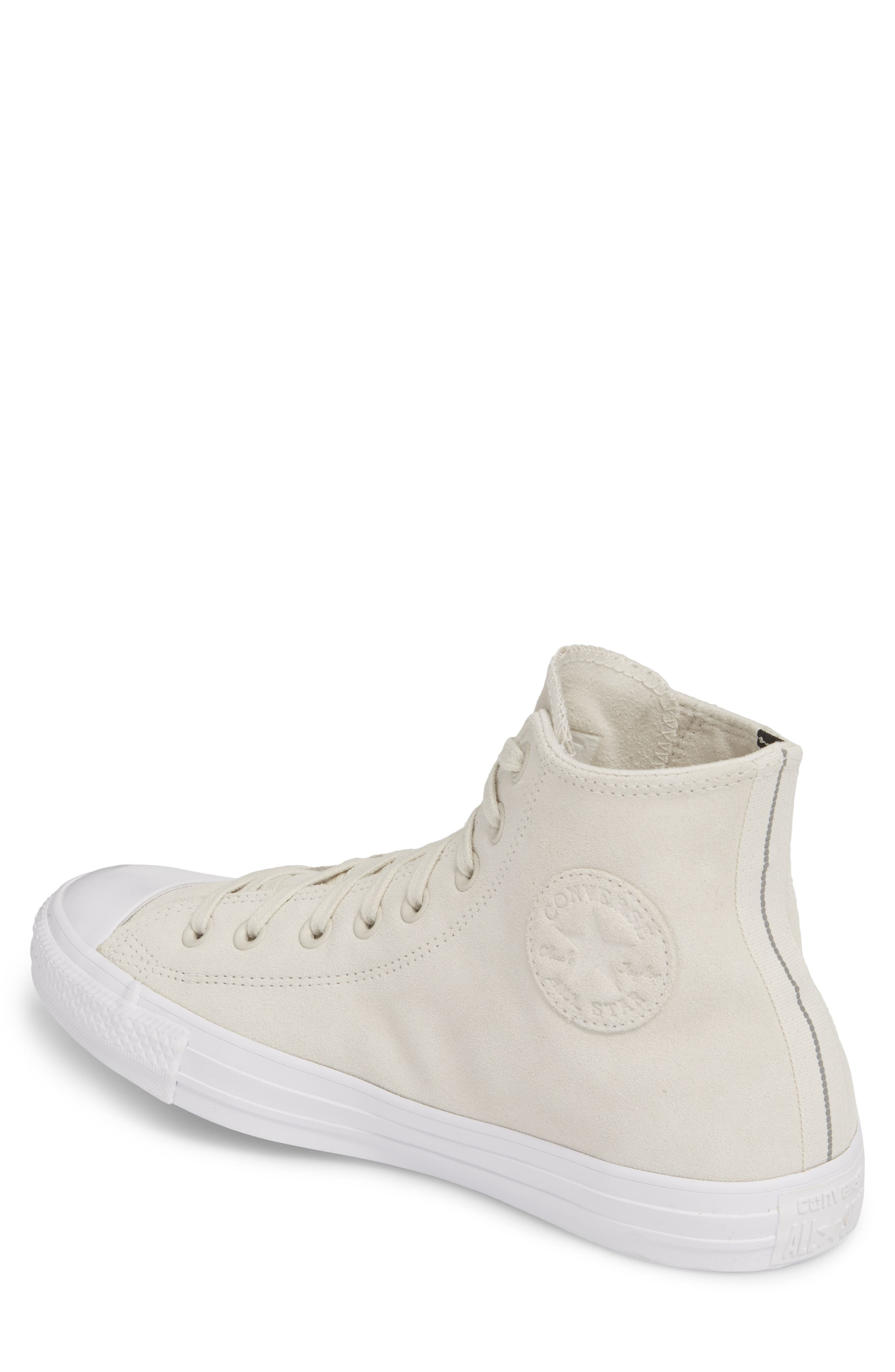 Chuck Taylor<sup>®</sup> All Star<sup>®</sup> Plush Hi Sneaker,                             Alternate thumbnail 2, color,                             Buff Suede