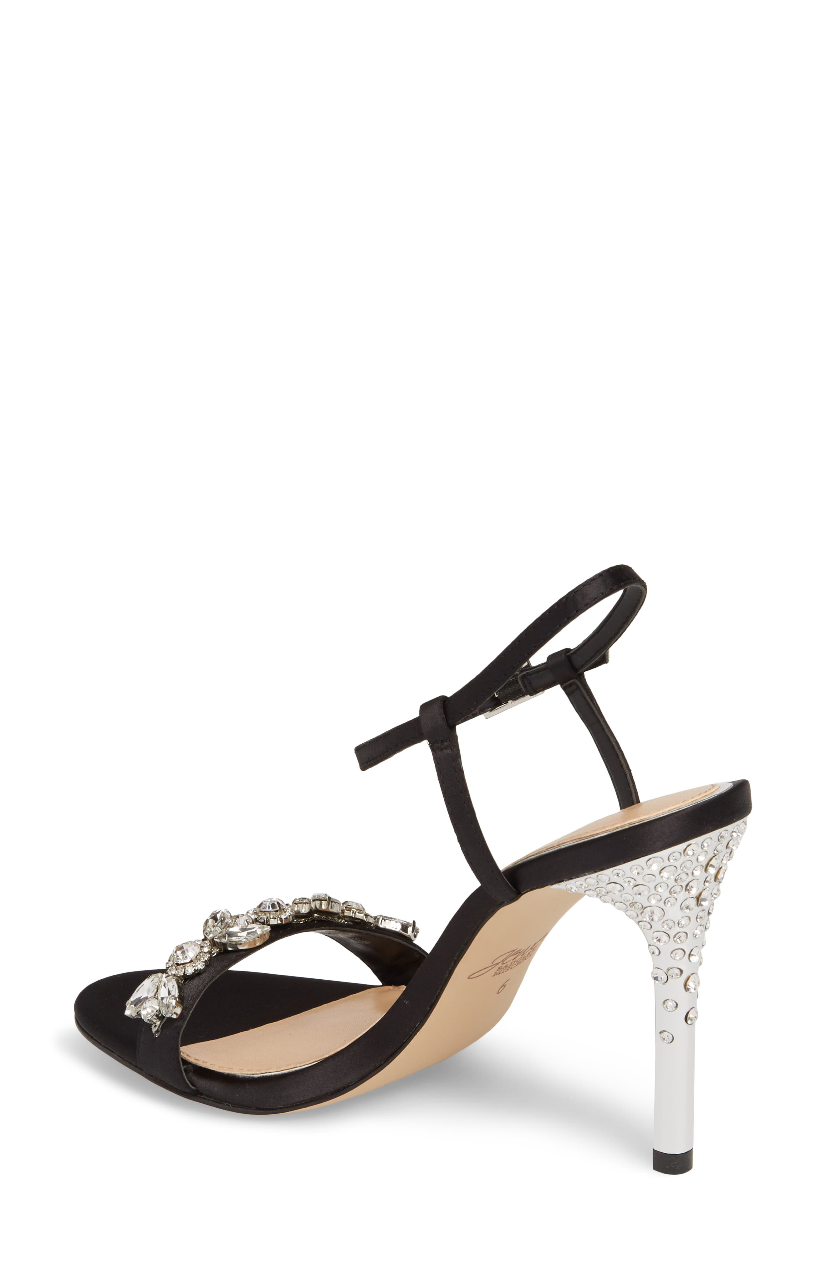 Tex Ankle Strap Sandal,                             Alternate thumbnail 2, color,                             Black Satin