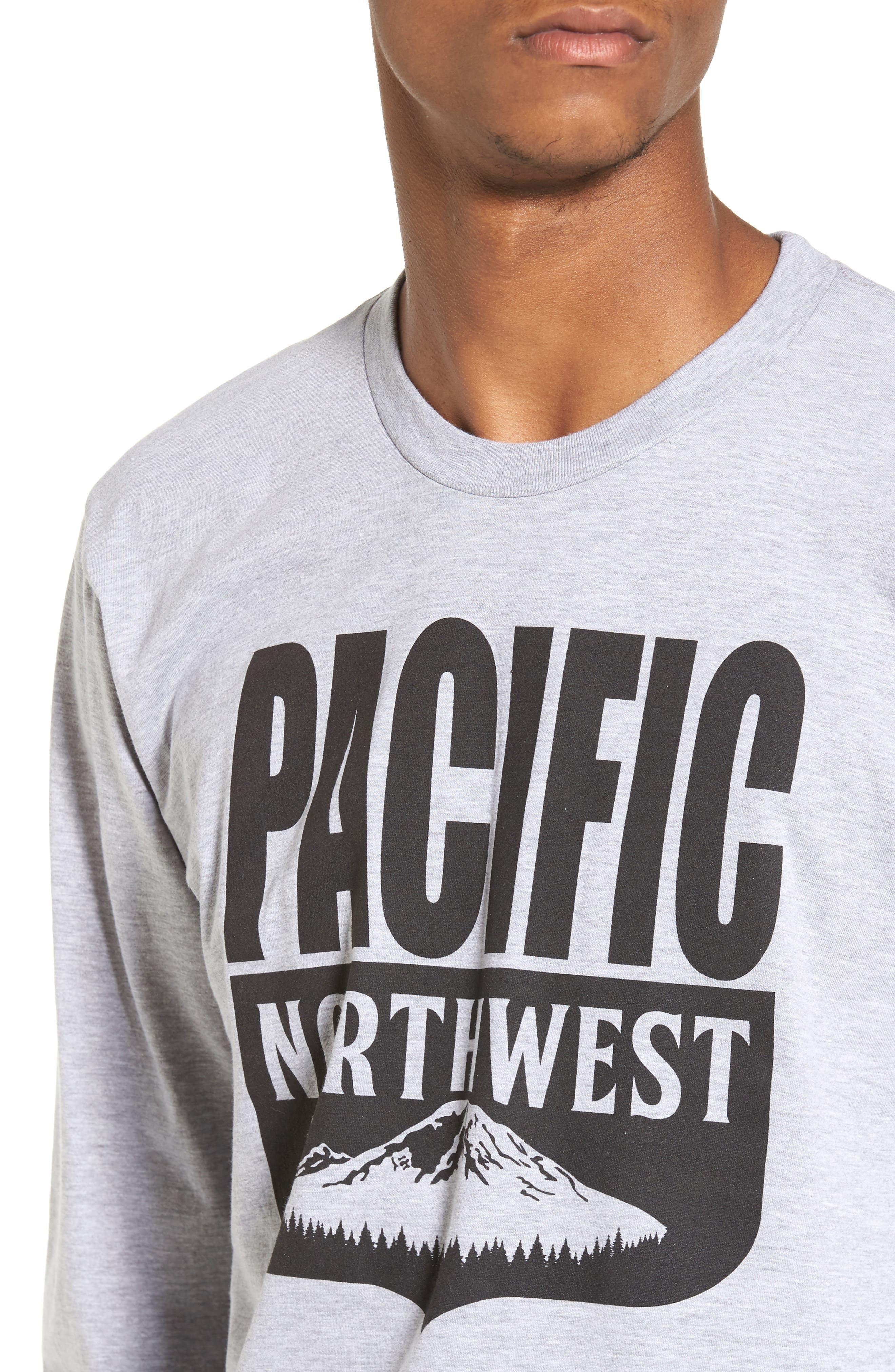 PNW Shield Sweatshirt,                             Alternate thumbnail 4, color,                             Heather Grey