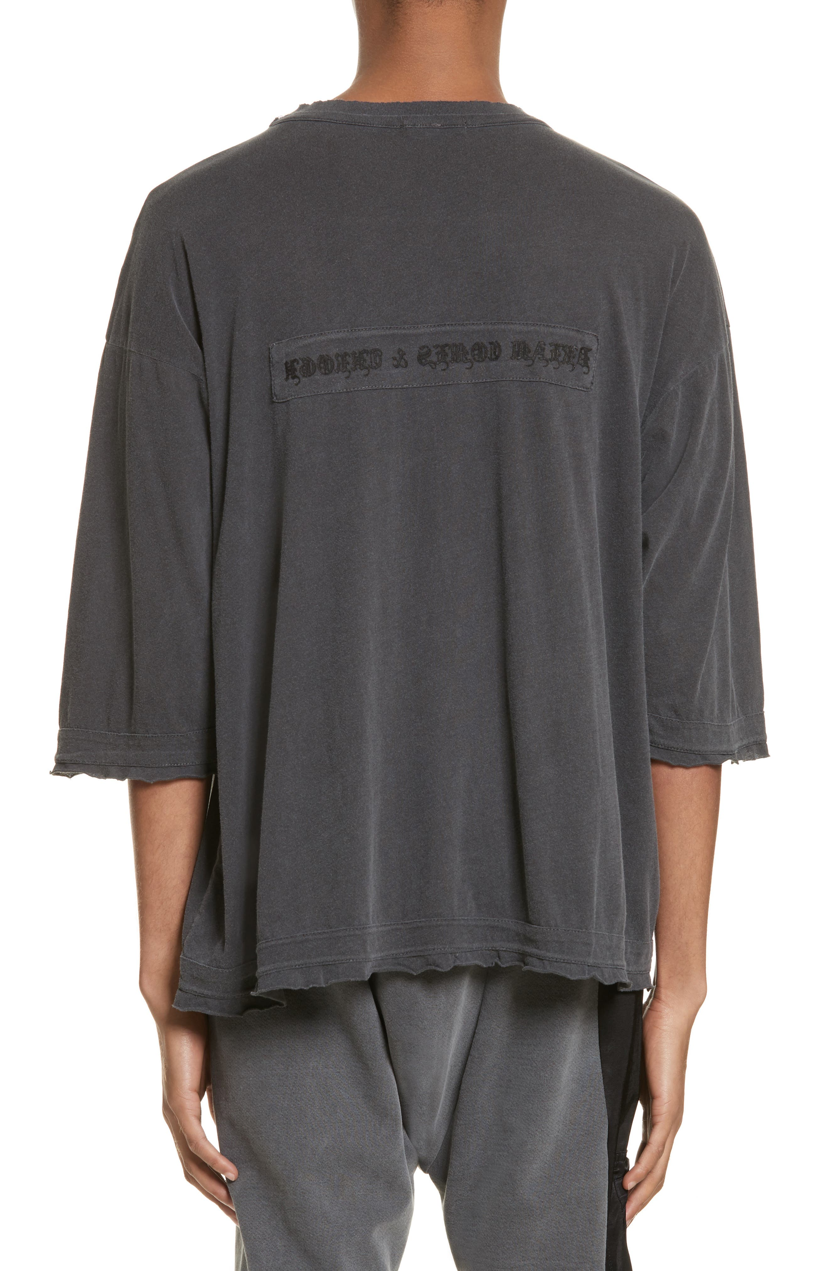 Eshu Oversize T-Shirt,                             Alternate thumbnail 2, color,                             Black Pigment
