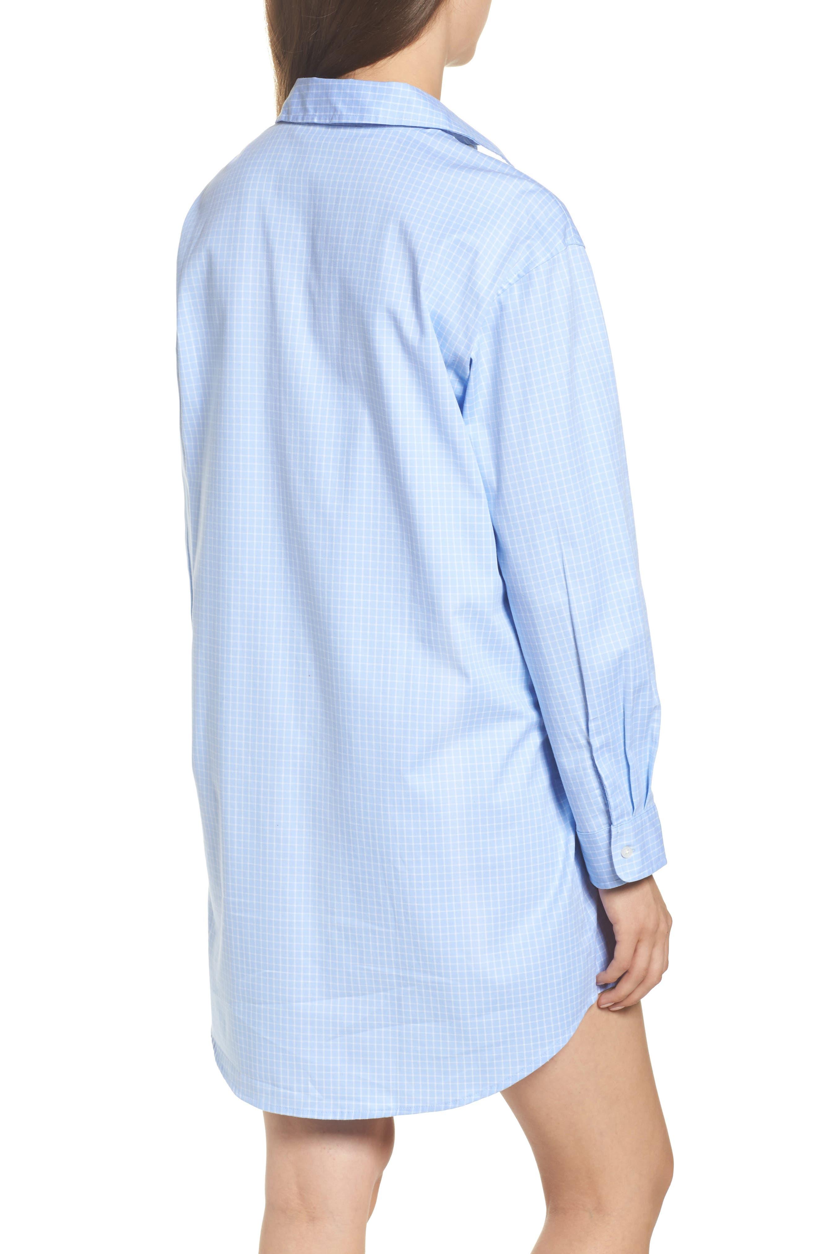 Alternate Image 2  - Lauren Ralph Lauren Stretch Cotton Sleep Shirt
