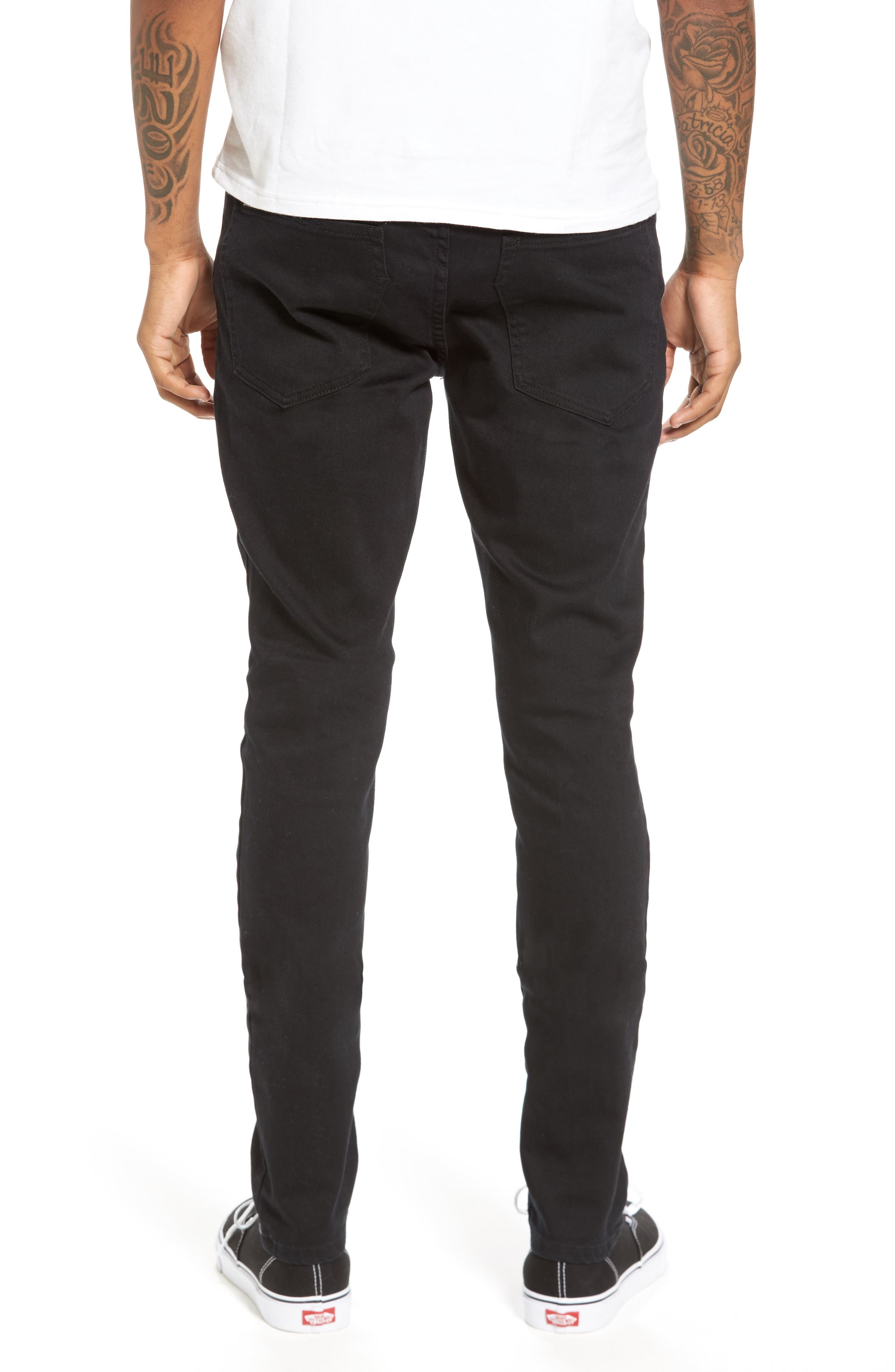 Joe Blow Destroyed Denim Jeans,                             Alternate thumbnail 2, color,                             Black Shred