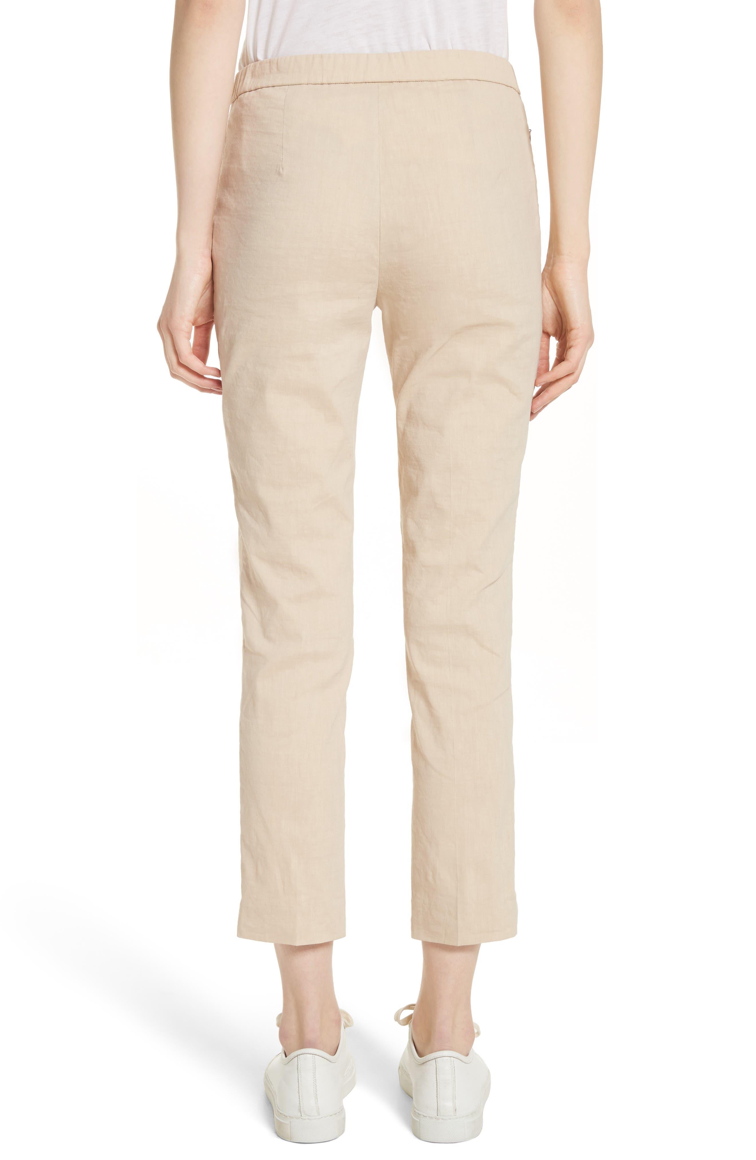 Pull-On Linen Blend Pants,                             Alternate thumbnail 2, color,                             Light Wheat