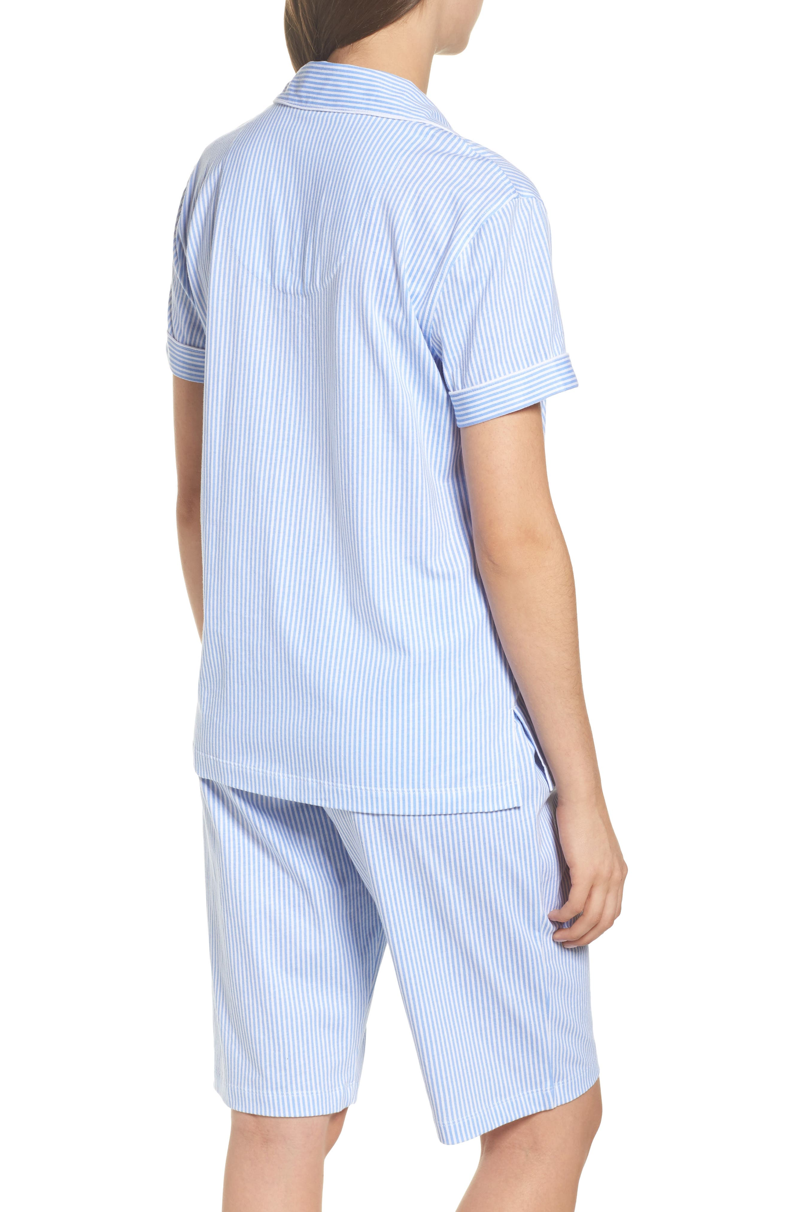 Bermuda Pajamas,                             Alternate thumbnail 2, color,                             Feather Blue Stripe