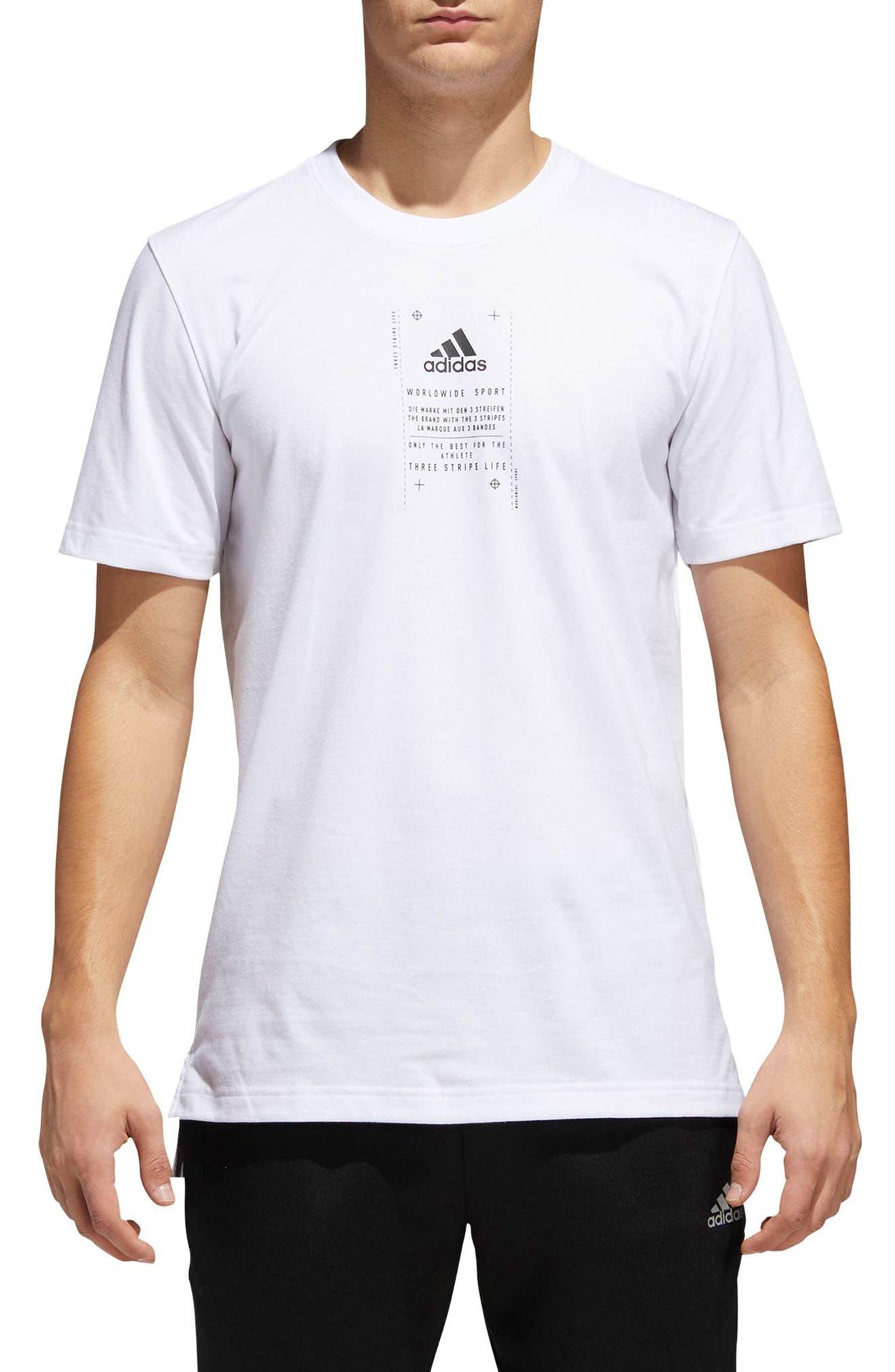 BOS Label T-Shirt,                             Main thumbnail 1, color,                             White / Black