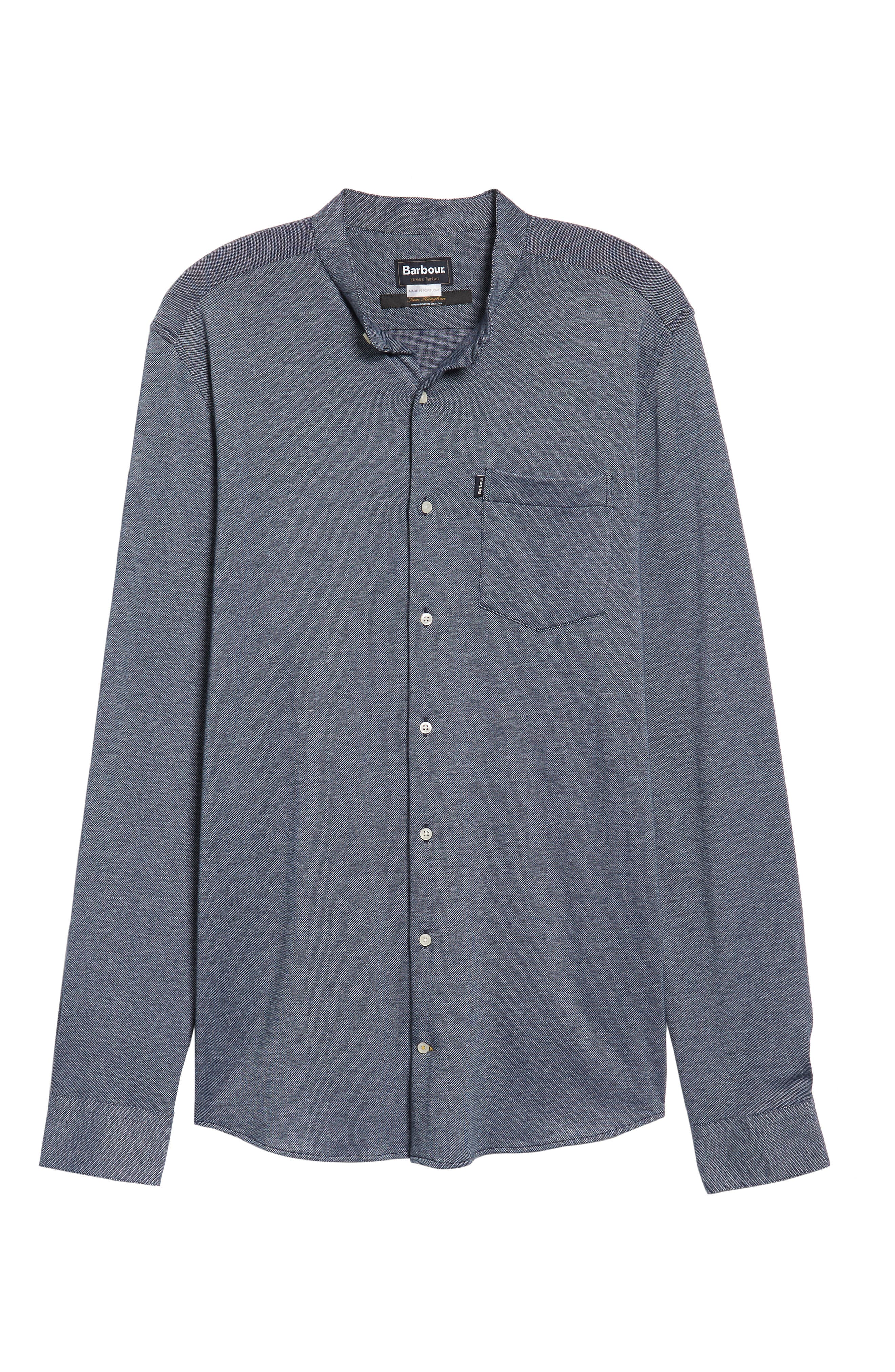 Scafell Regular Fit Solid Sport Shirt,                             Alternate thumbnail 6, color,                             Navy