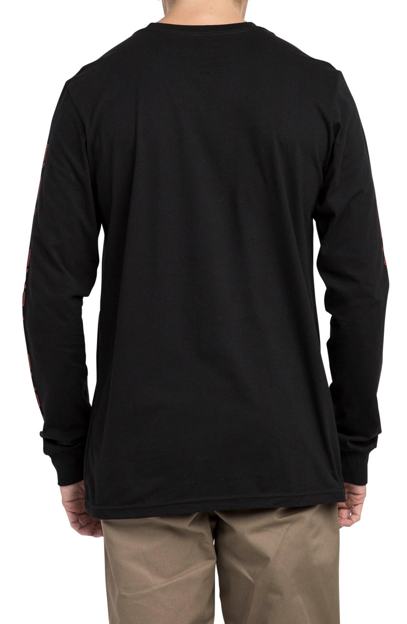 Lobitos Long Sleeve Graphic T-Shirt,                             Alternate thumbnail 2, color,                             Black