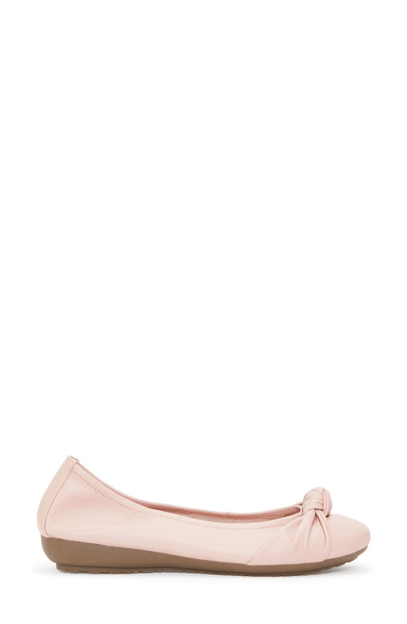 Jaci Flat,                             Alternate thumbnail 3, color,                             Pink Leather