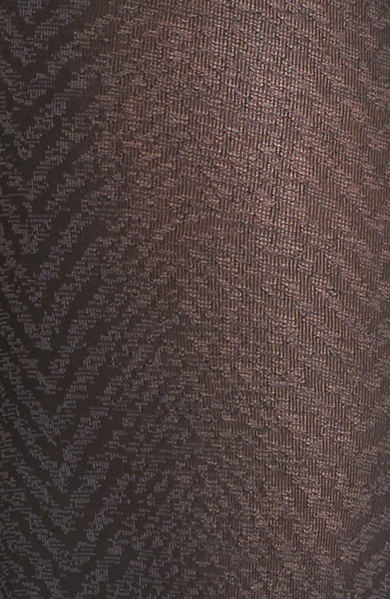 Blanca Herringbone Tights,                             Alternate thumbnail 3, color,                             Black