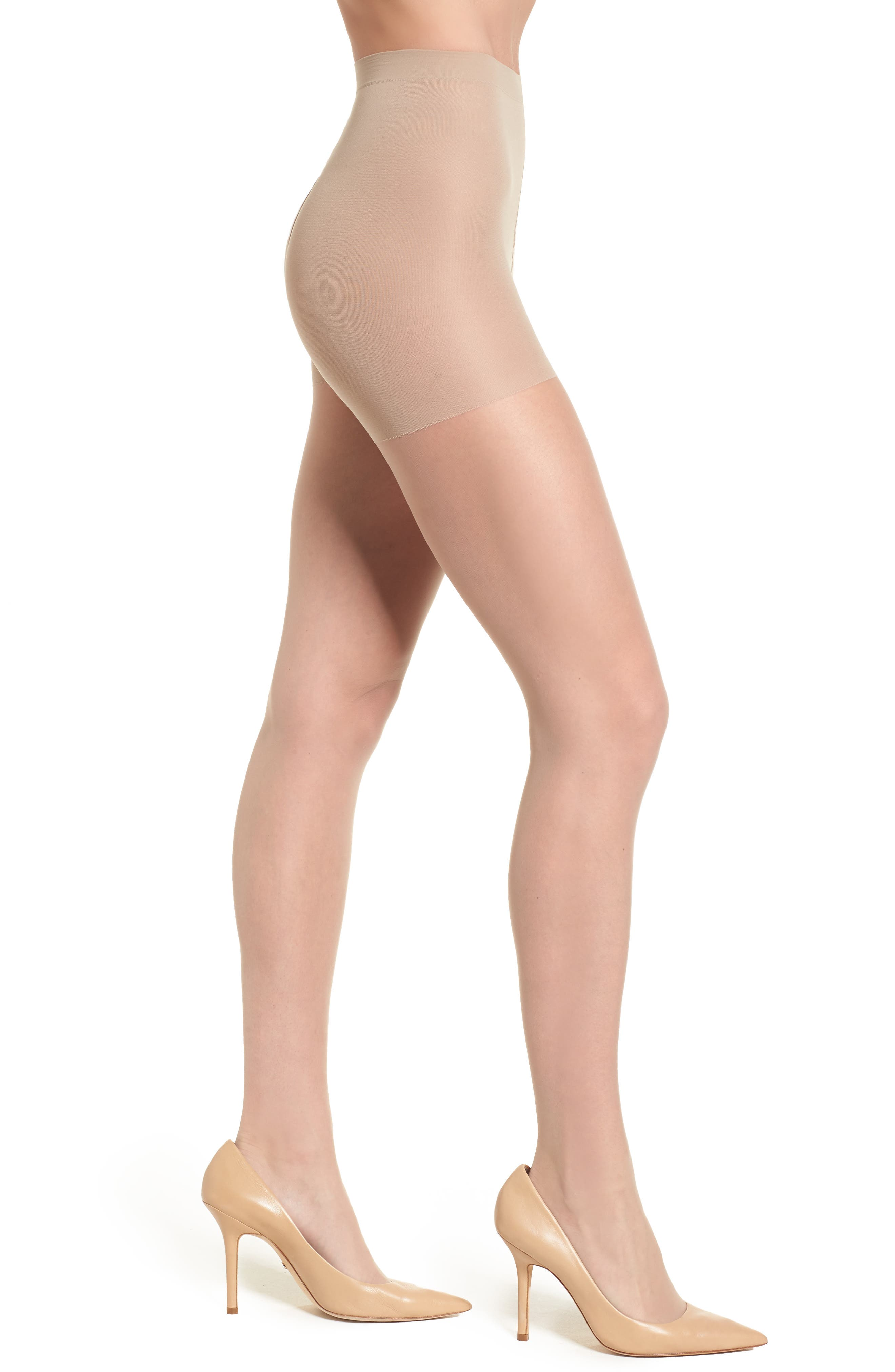 Donna Karan Signature Ultra Sheer Control Top Pantyhose,                             Main thumbnail 1, color,                             Buff