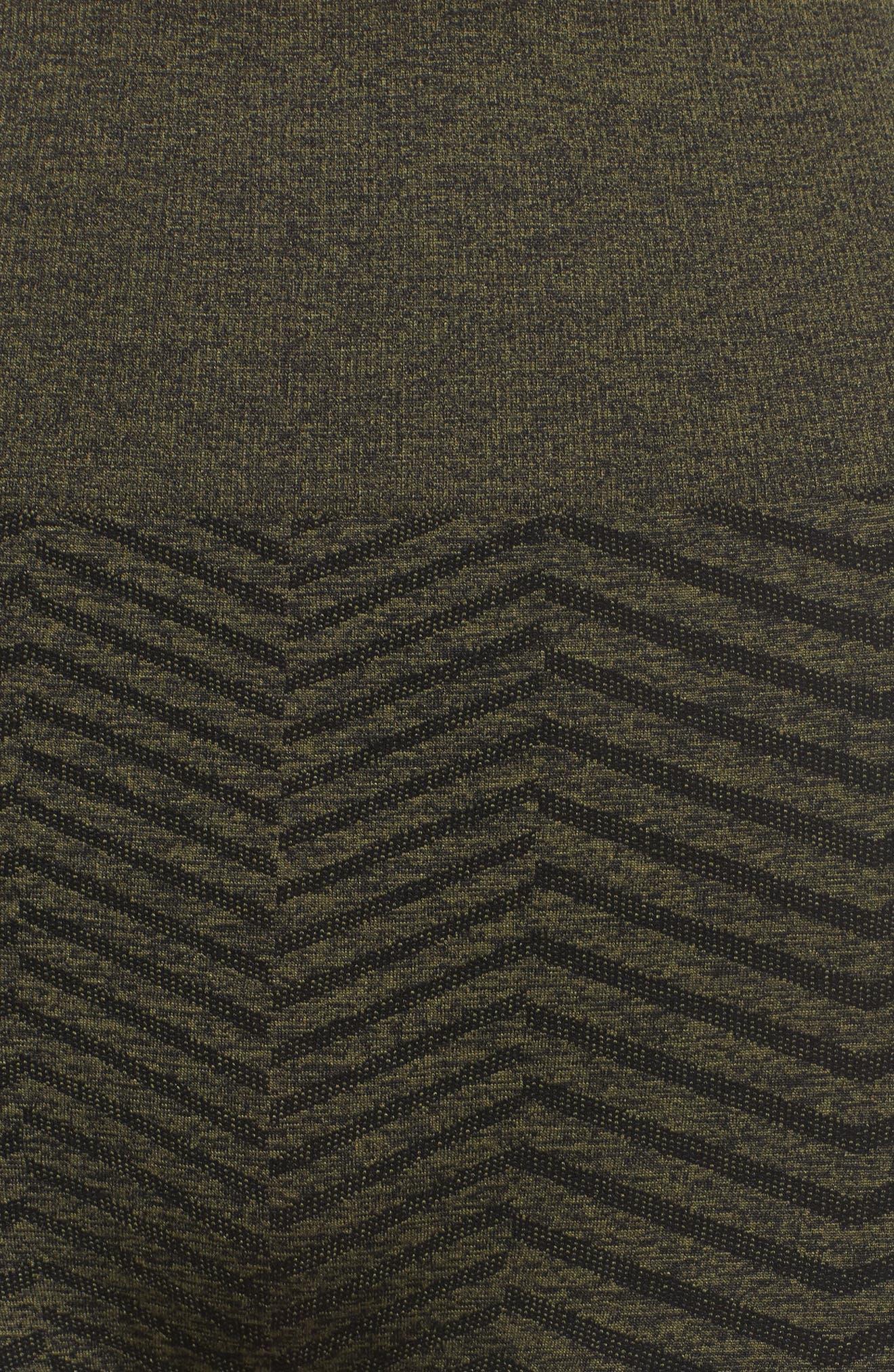 Cadence High Waist Leggings,                             Alternate thumbnail 6, color,                             Deep Lichen Green/ Black