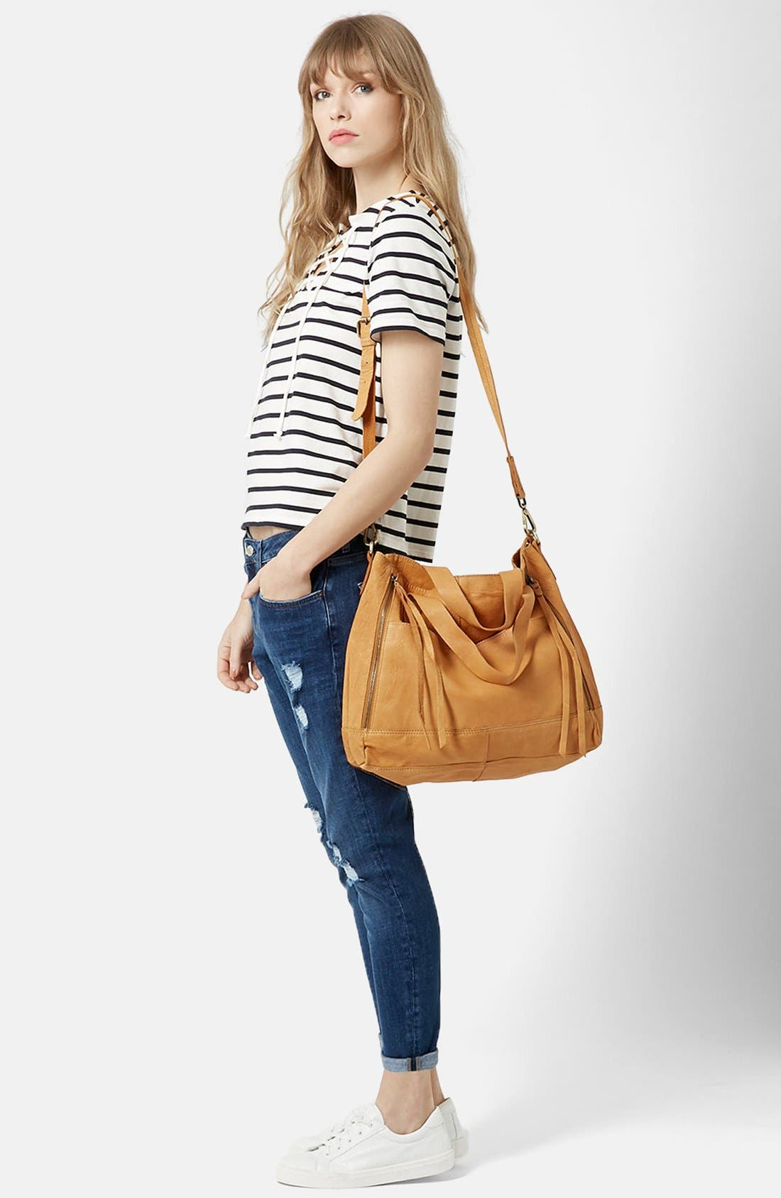 Alternate Image 5  - Topshop Lace-Up Nautical Top