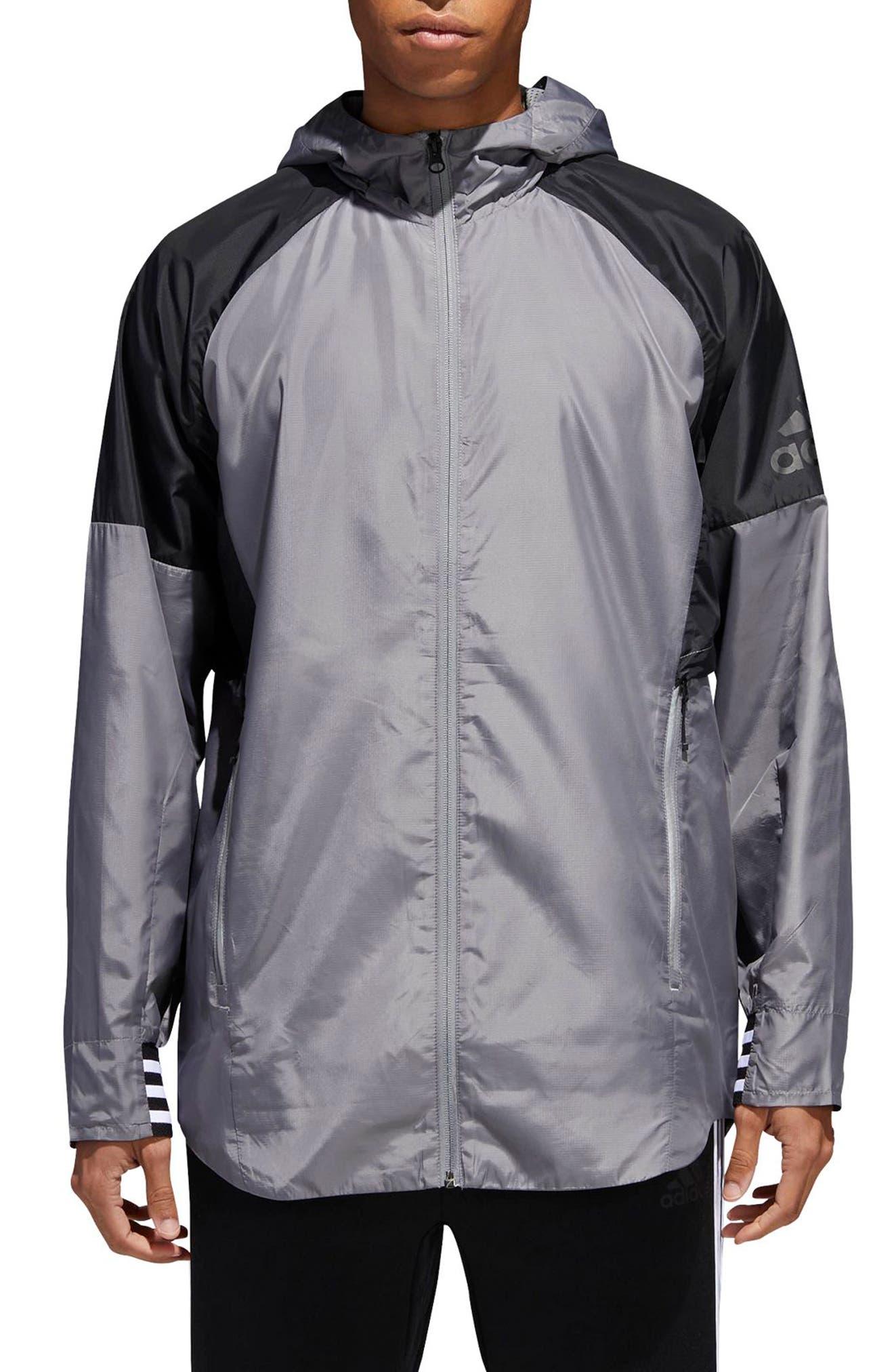 ID Wovenshell Jacket,                         Main,                         color, Grey Three