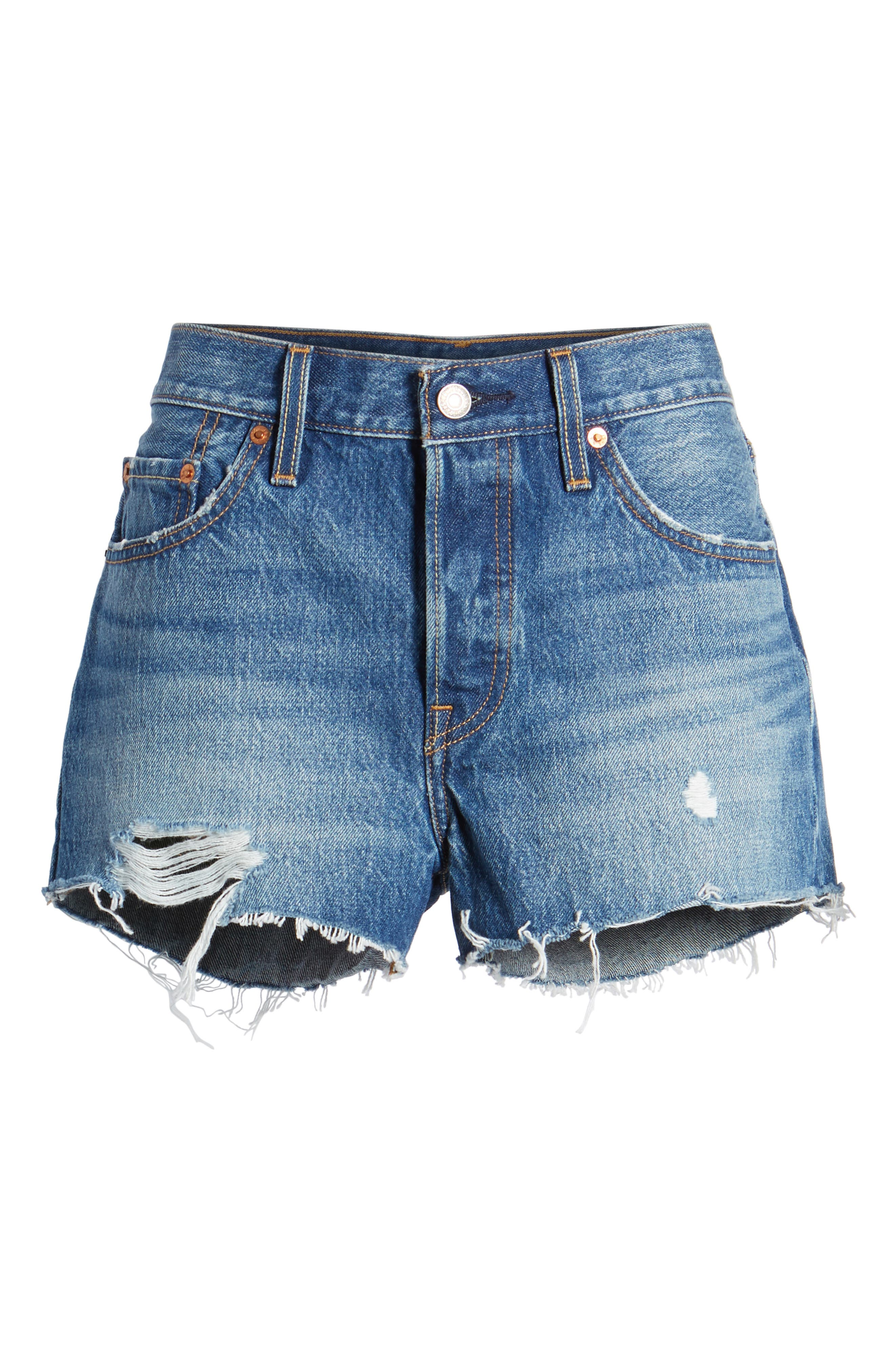 501<sup>®</sup> Cutoff Denim Shorts,                             Alternate thumbnail 7, color,                             Back To Your Heart